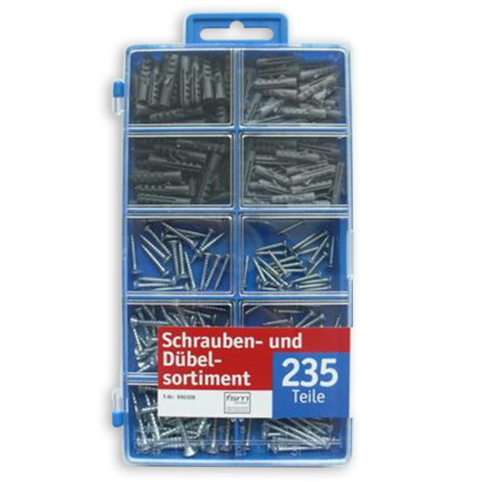 schrauben und d bel sortiment 235 teile verschiedene gr en schrauben n gel werkzeug. Black Bedroom Furniture Sets. Home Design Ideas