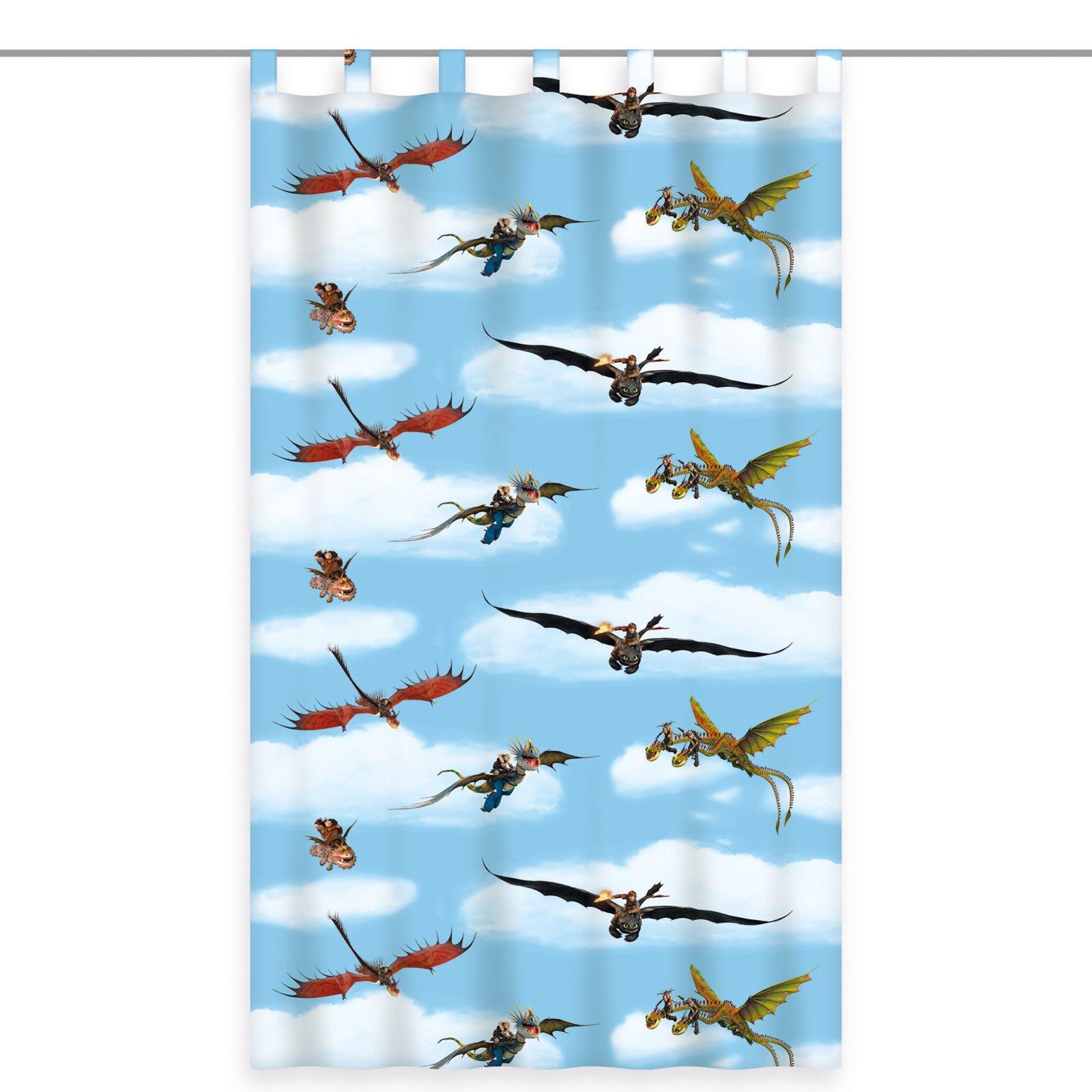Schlaufenschal dragons hellblau 140x160 cm for Kinderzimmer roller