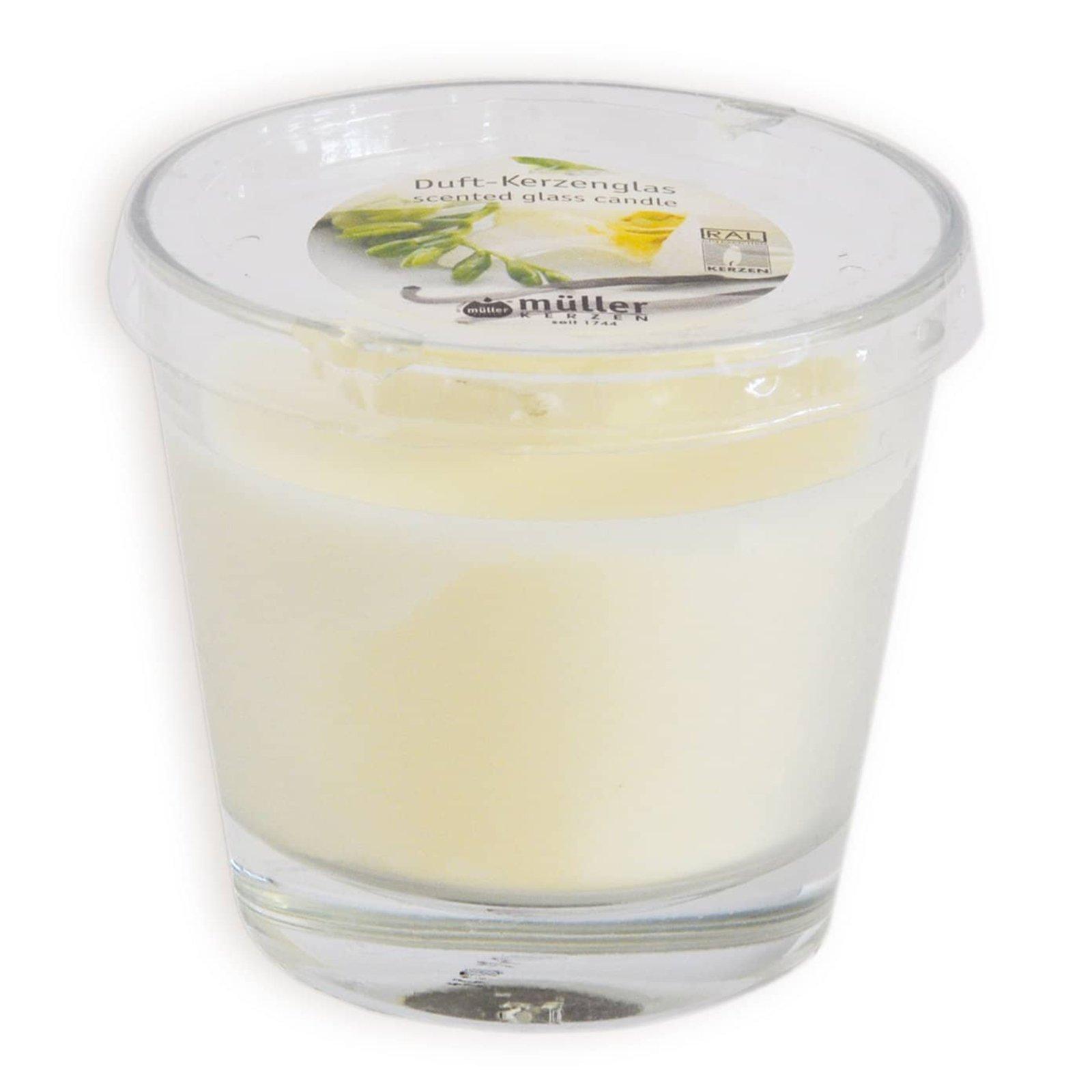 Duftkerze - Vanille - im Glas - Ø 9 cm