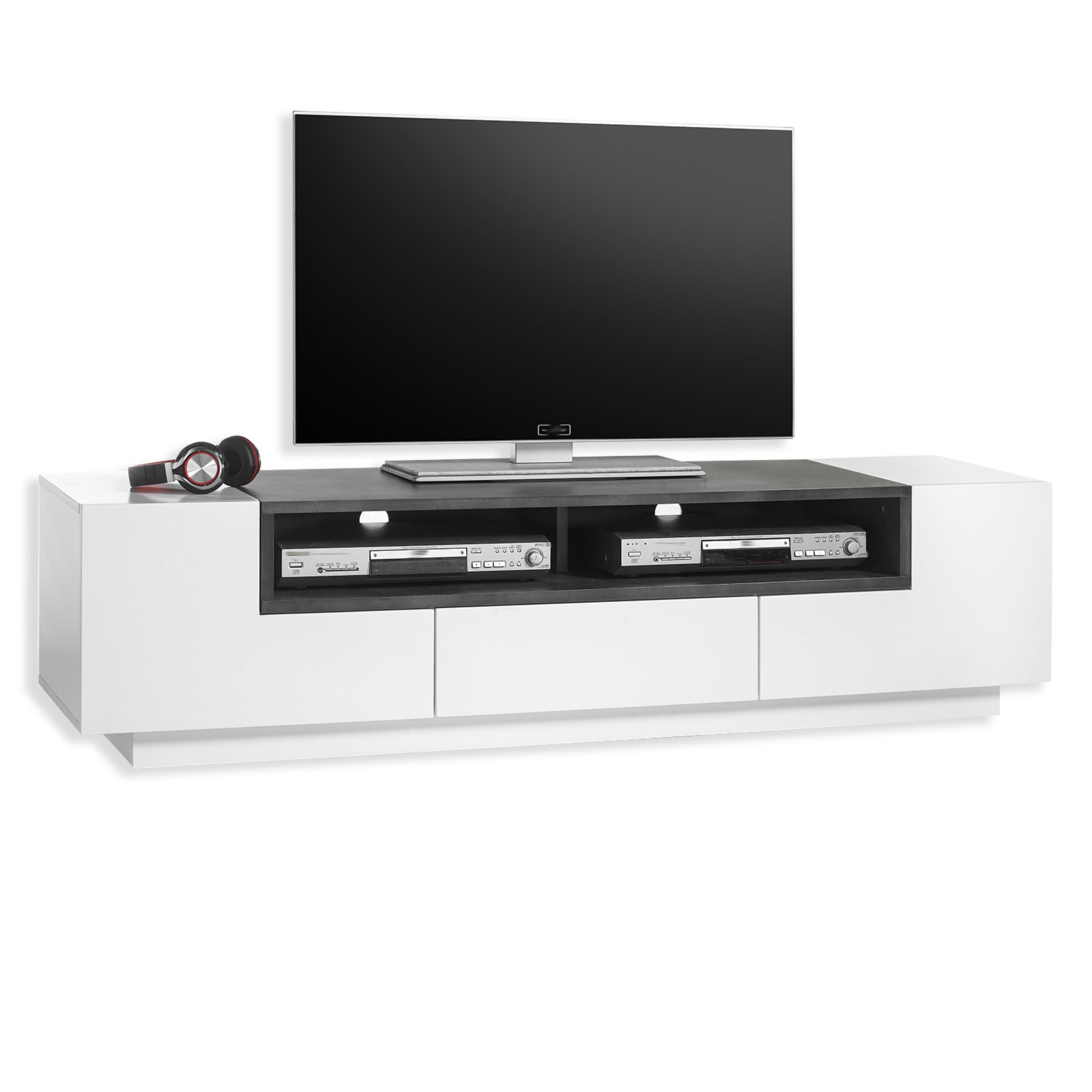 tv lowboard josy wei matt beton 160 cm tv lowboards. Black Bedroom Furniture Sets. Home Design Ideas