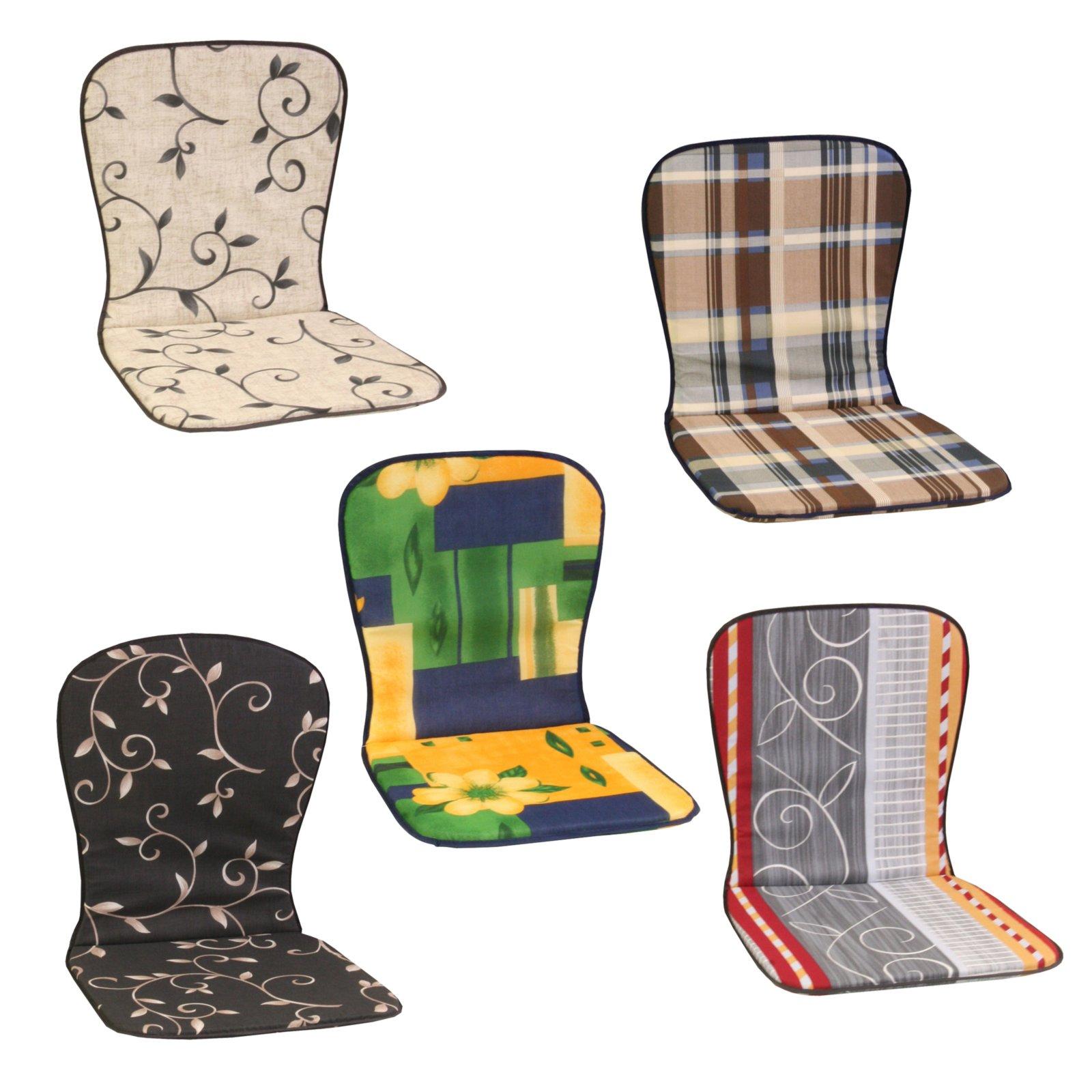 Sitzauflage Rücken hoch - verschiedene Designs | Auflagen für ...