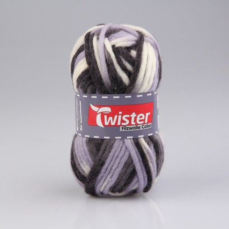 Filzwolle TWISTER COLOR - granit - 50g