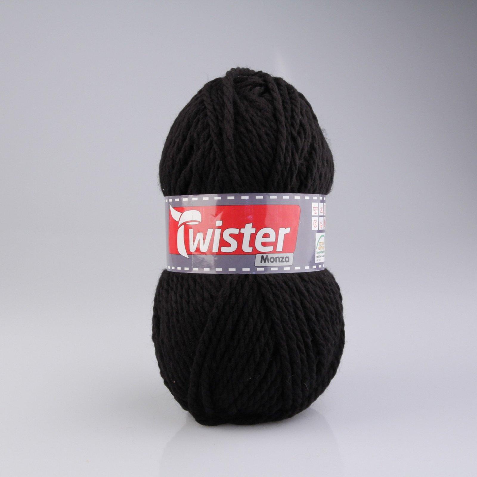 Wolle TWISTER MONZA - schwarz - 200g