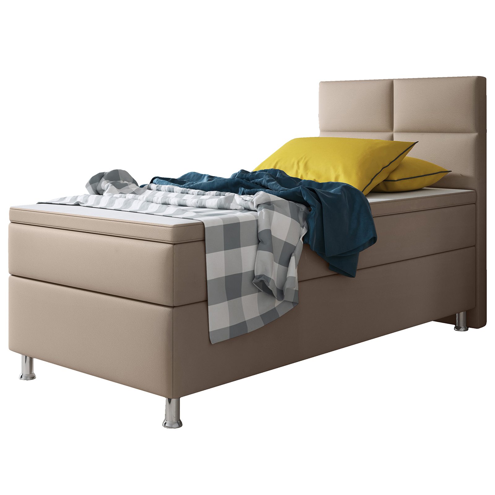 Boxspringbett Design Miami Muddy Mit Bettkasten H3 90x200 Cm