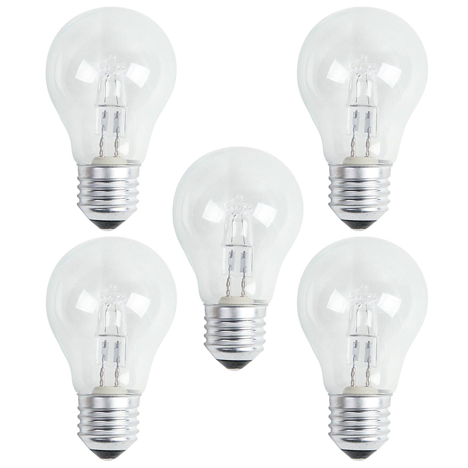 5er Pack Halogen-Leuchtmittel LIGHTME - Classic - E27 - 42 Watt