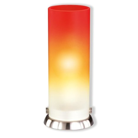 Tischlampe PIPE - Glas orange