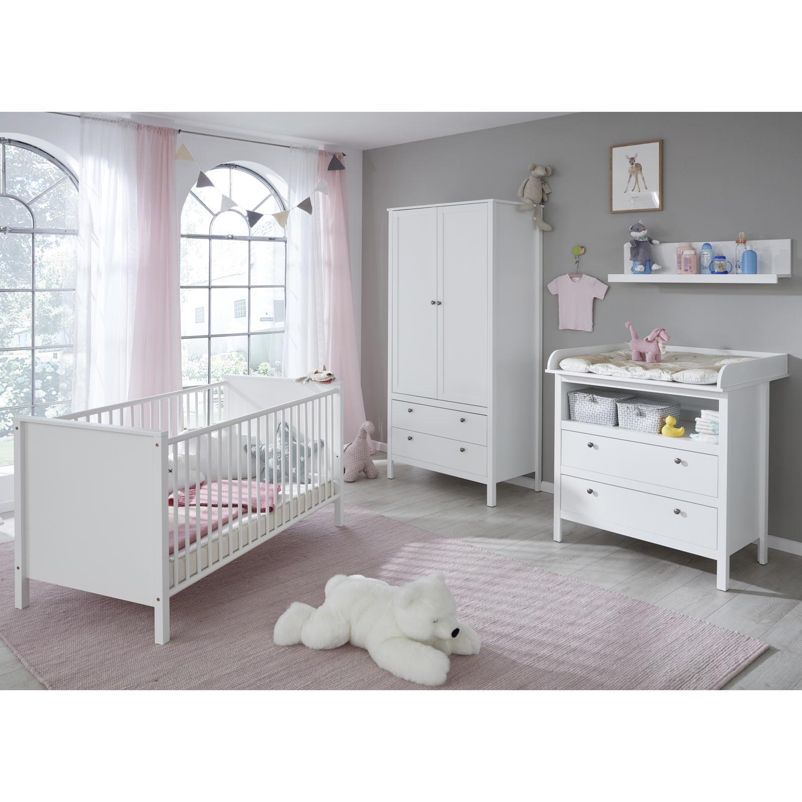 4 Teiliges Babyzimmer Set Weiss Online Bei Roller Kaufen