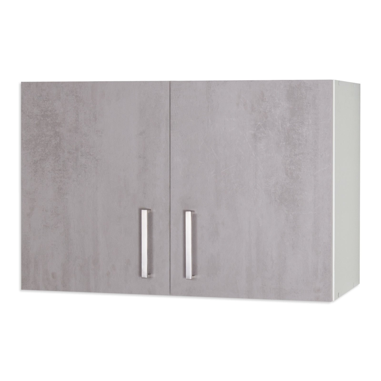 h ngeschrank marina betonoptik wei 100 cm h ngeschr nke einzelschr nke k chenschr nke. Black Bedroom Furniture Sets. Home Design Ideas