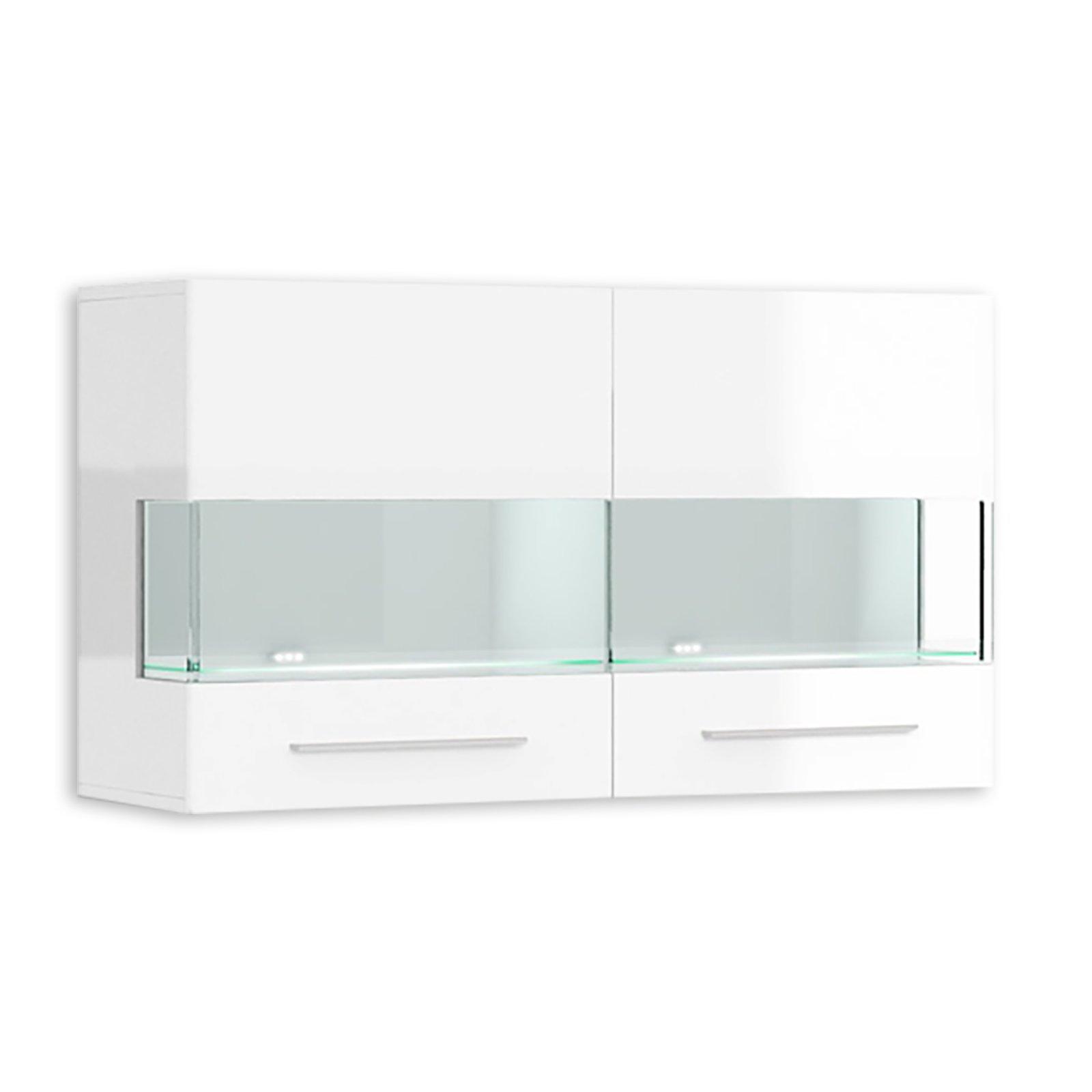 h ngevitrine sky wei wei hochglanz 110 cm breit. Black Bedroom Furniture Sets. Home Design Ideas
