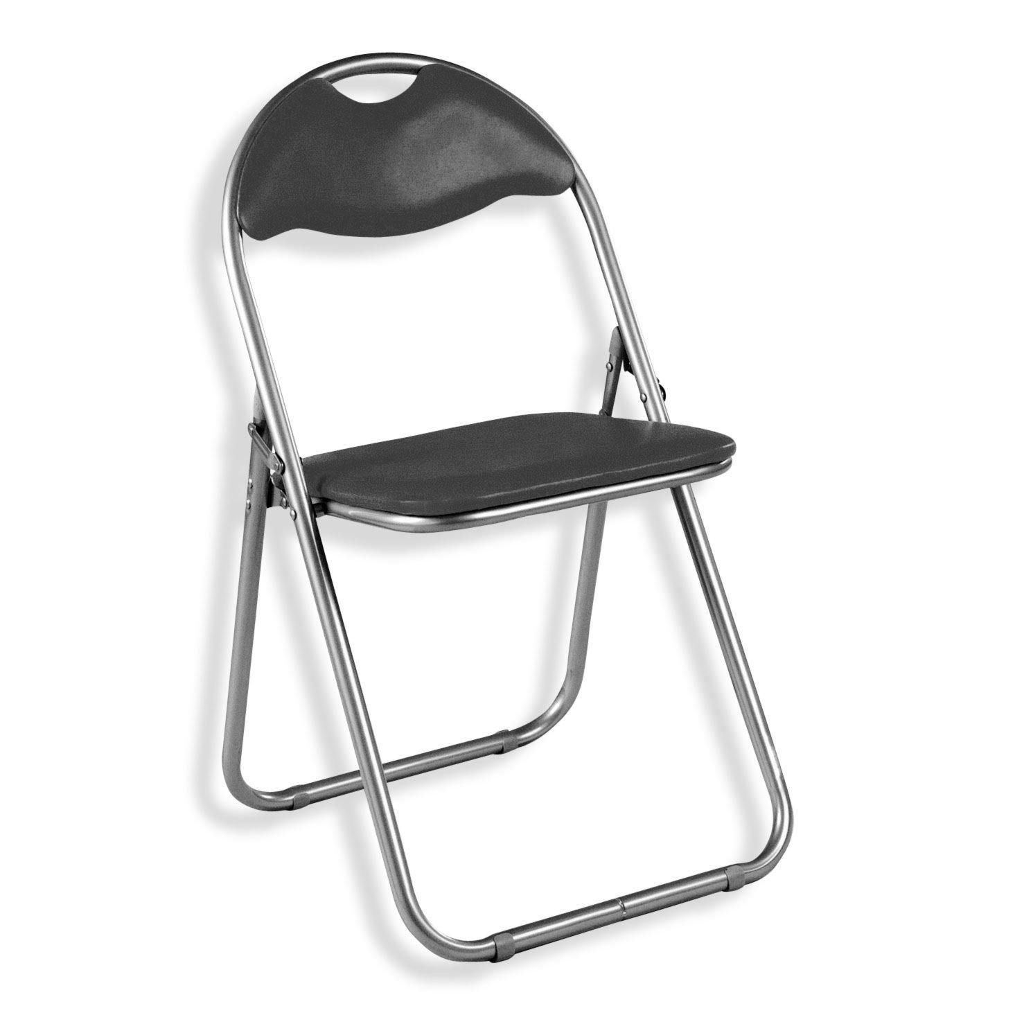 klappstuhl black schwarz kunstleder klappst hle st hle st hle hocker m bel. Black Bedroom Furniture Sets. Home Design Ideas