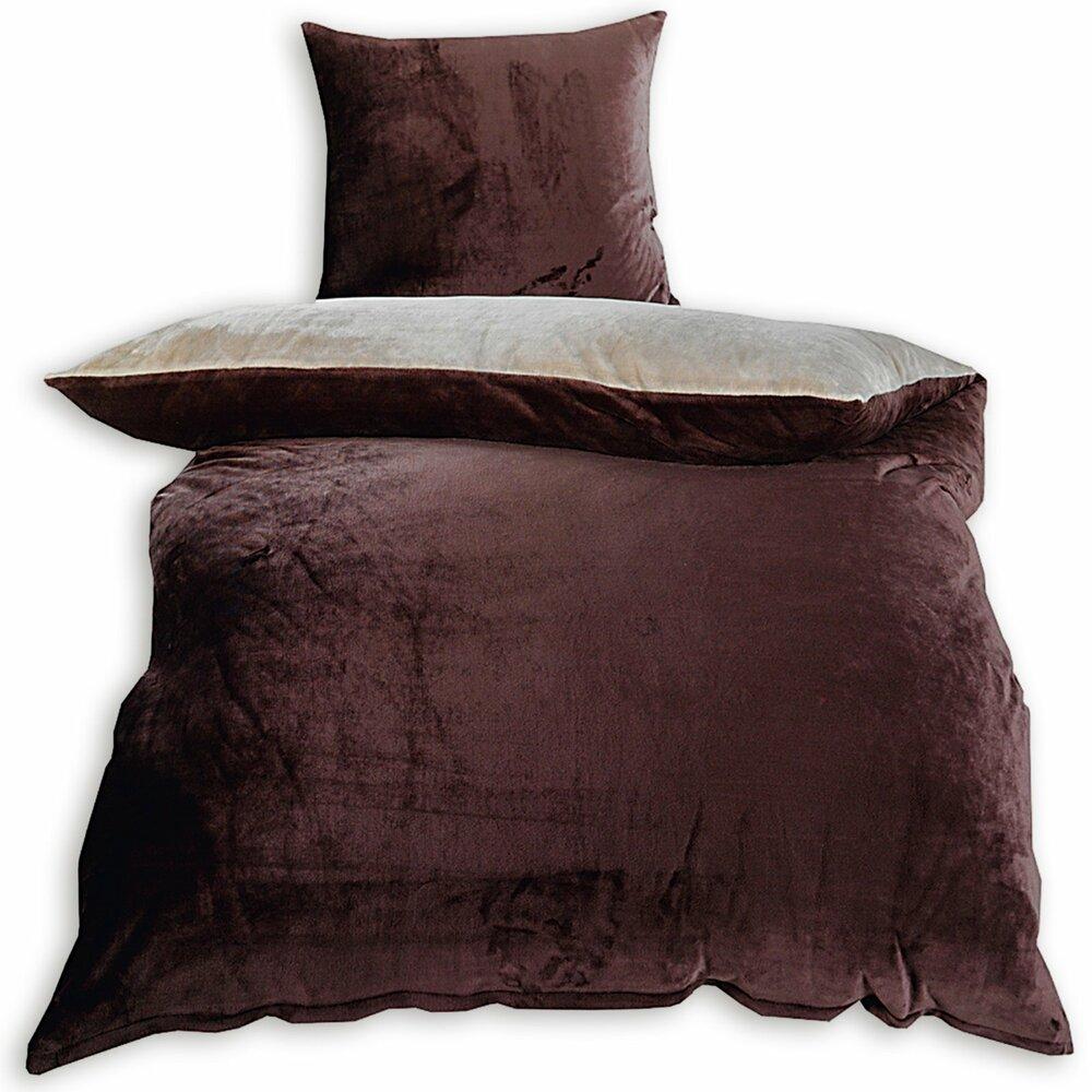 flanell bettw sche beige braun 135x200 cm bettw sche. Black Bedroom Furniture Sets. Home Design Ideas