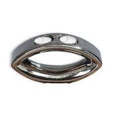 2er Teelichthalter PURE   Silber   Spiegel Optik