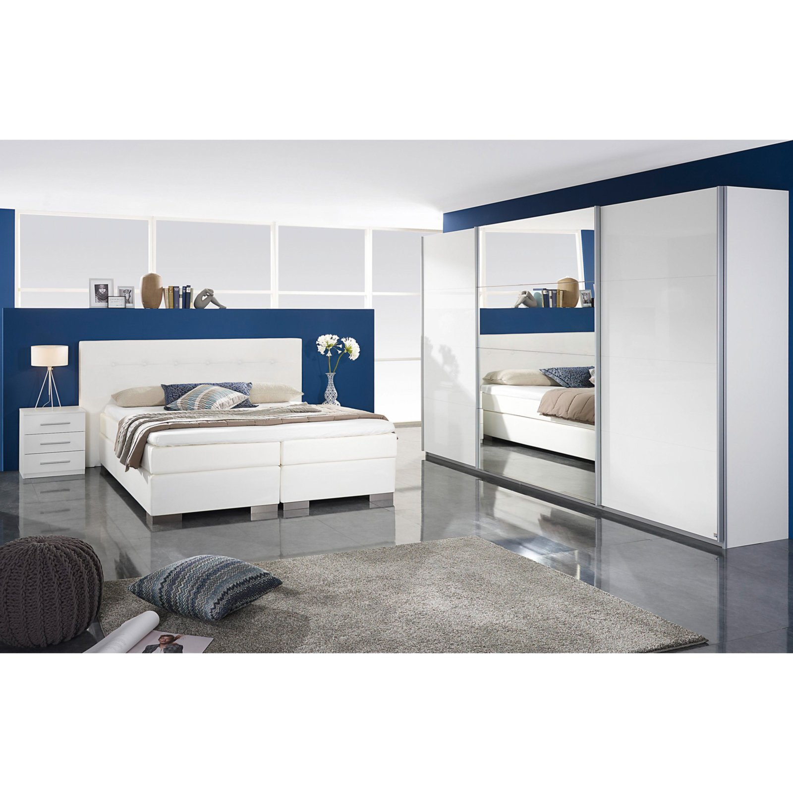 roller schwebet renschrank imposa wei hochglanz 315 cm ebay. Black Bedroom Furniture Sets. Home Design Ideas