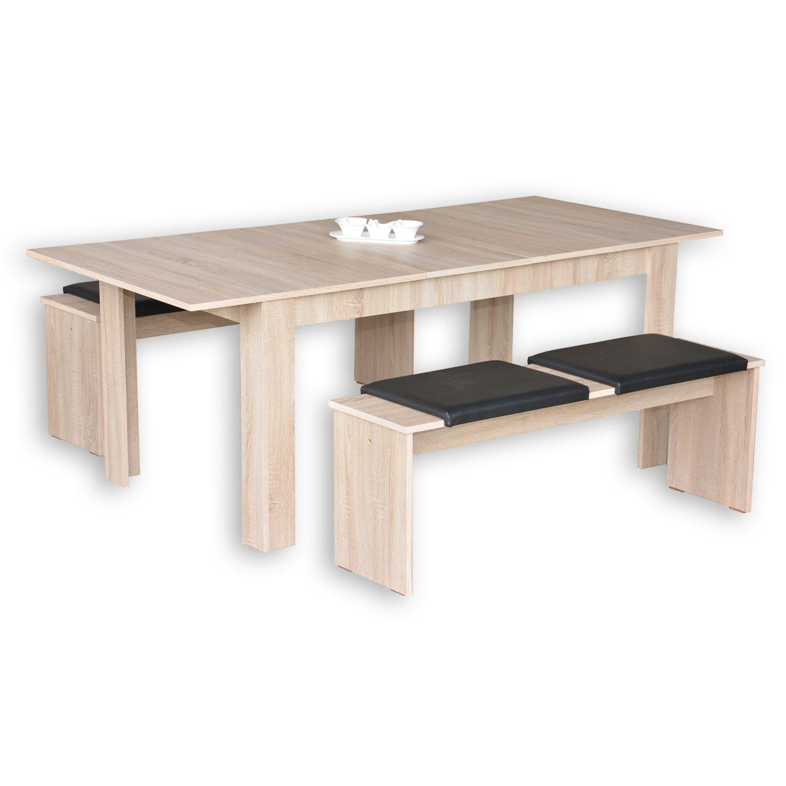 Tischgruppe JAZZ - Sonoma Eiche - 3-teilig - Sitzbänke | Essgruppen ...