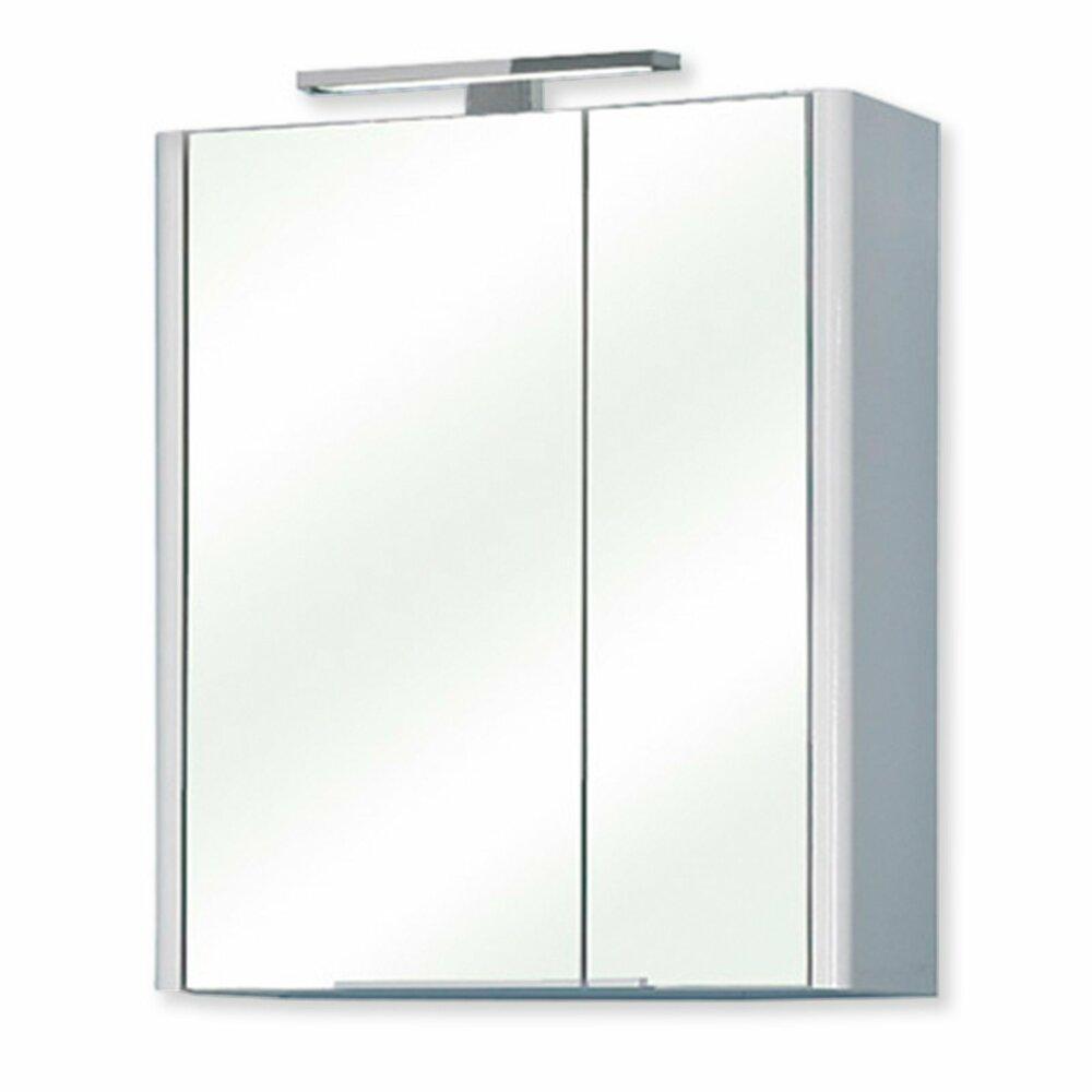 spiegelschrank bardi wei hochglanz spiegelschr nke badm bel badezimmer wohnbereiche. Black Bedroom Furniture Sets. Home Design Ideas