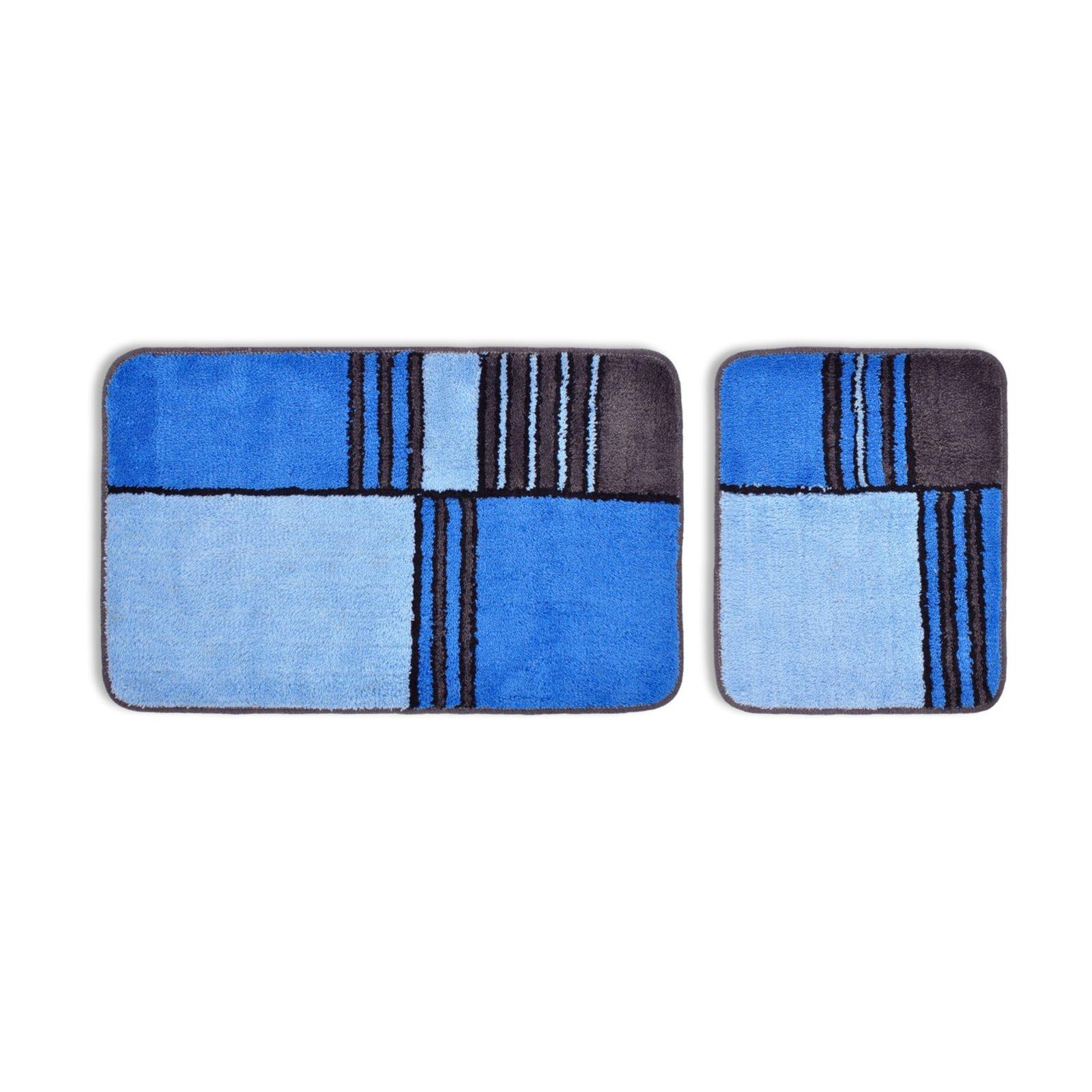 badgarnitur marlin blau 2 teilig badteppiche matten badtextilien heimtextilien. Black Bedroom Furniture Sets. Home Design Ideas