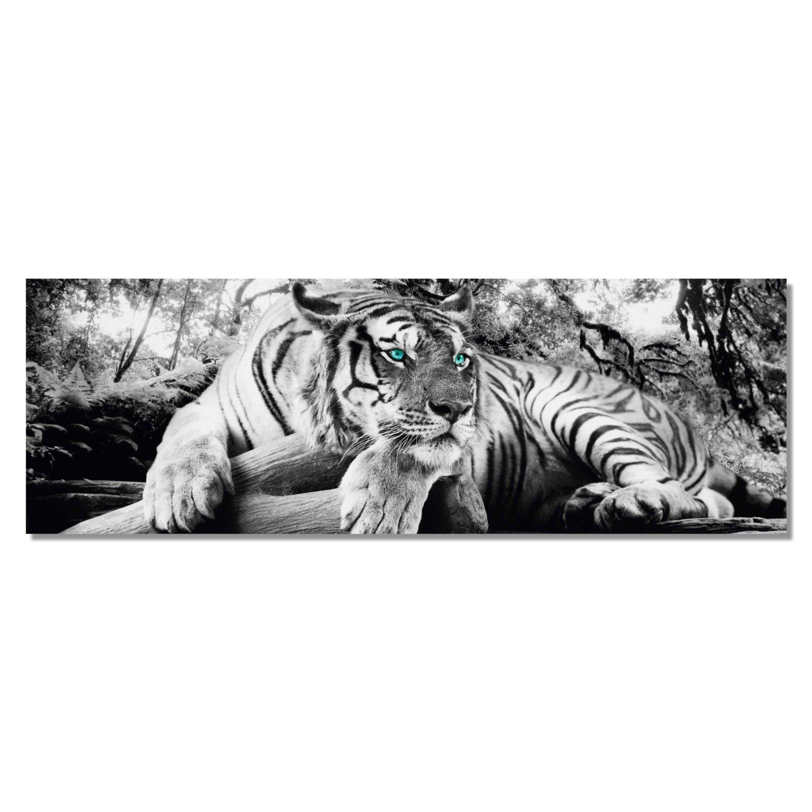 Deko panel tiger 52x156 cm bilder gem lde deko for Wohnaccessoires wohnzimmer