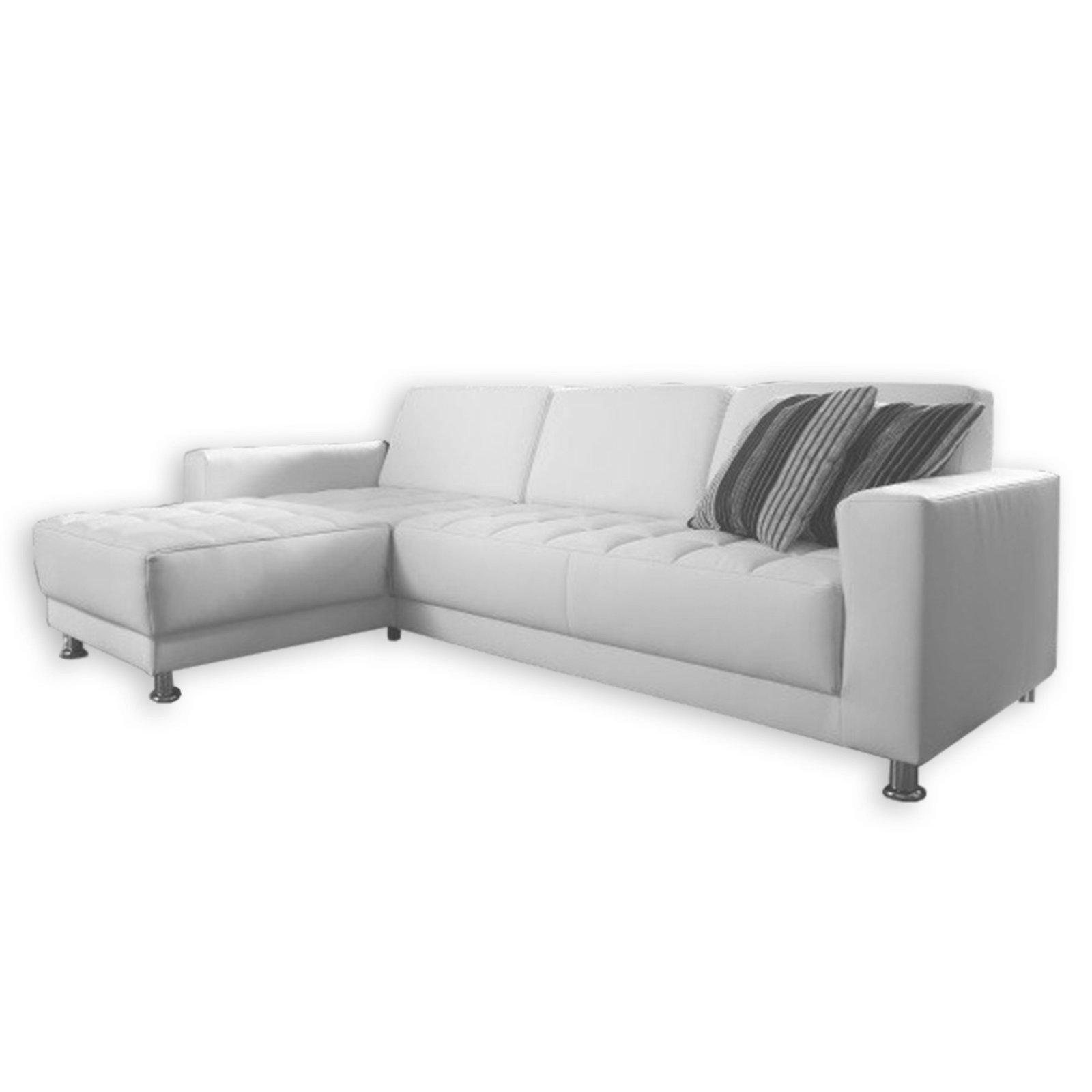 polsterecke wei kunstleder recamiere links. Black Bedroom Furniture Sets. Home Design Ideas