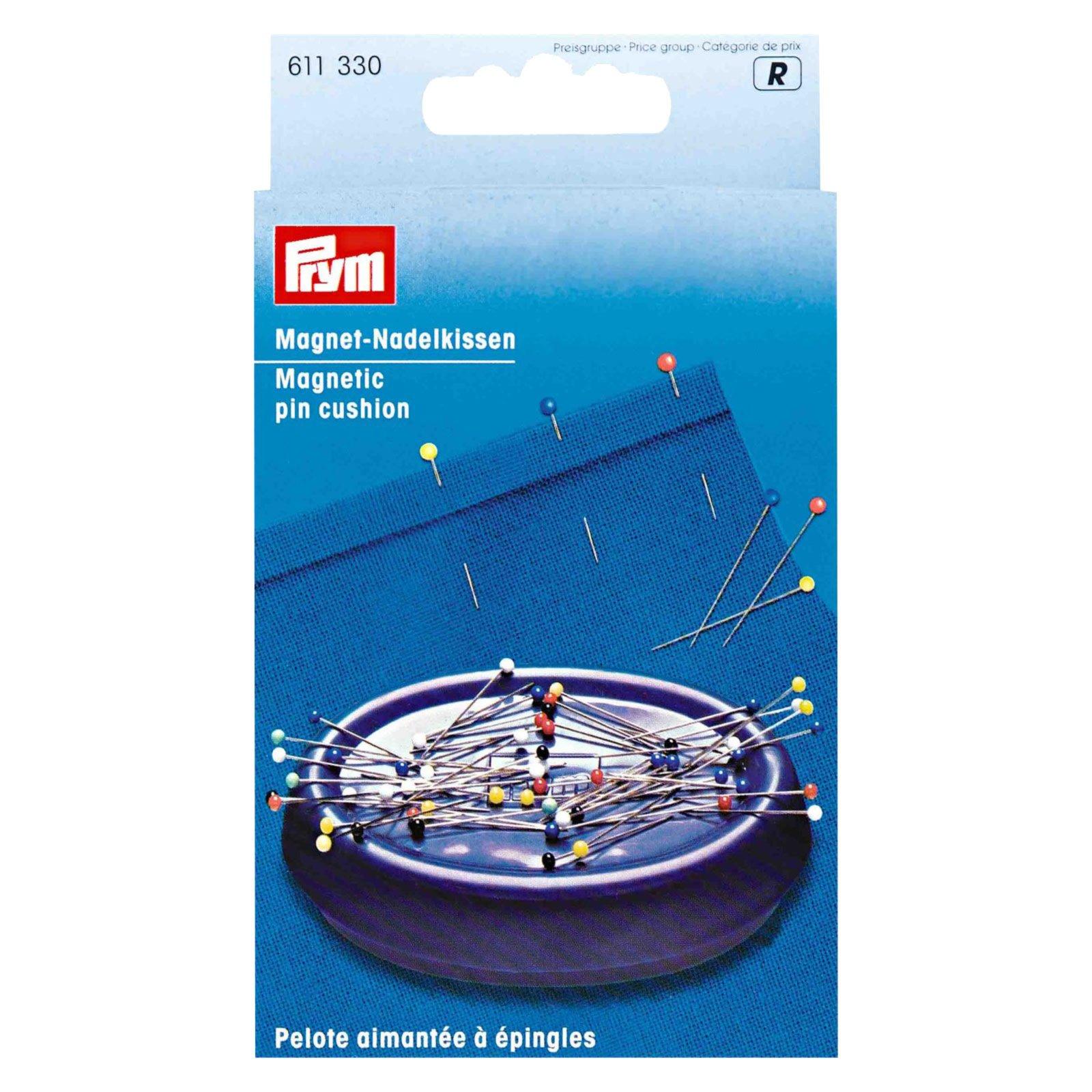 Nadelkissen - pflaumenblau - magnetisch - 11,5 cm lang