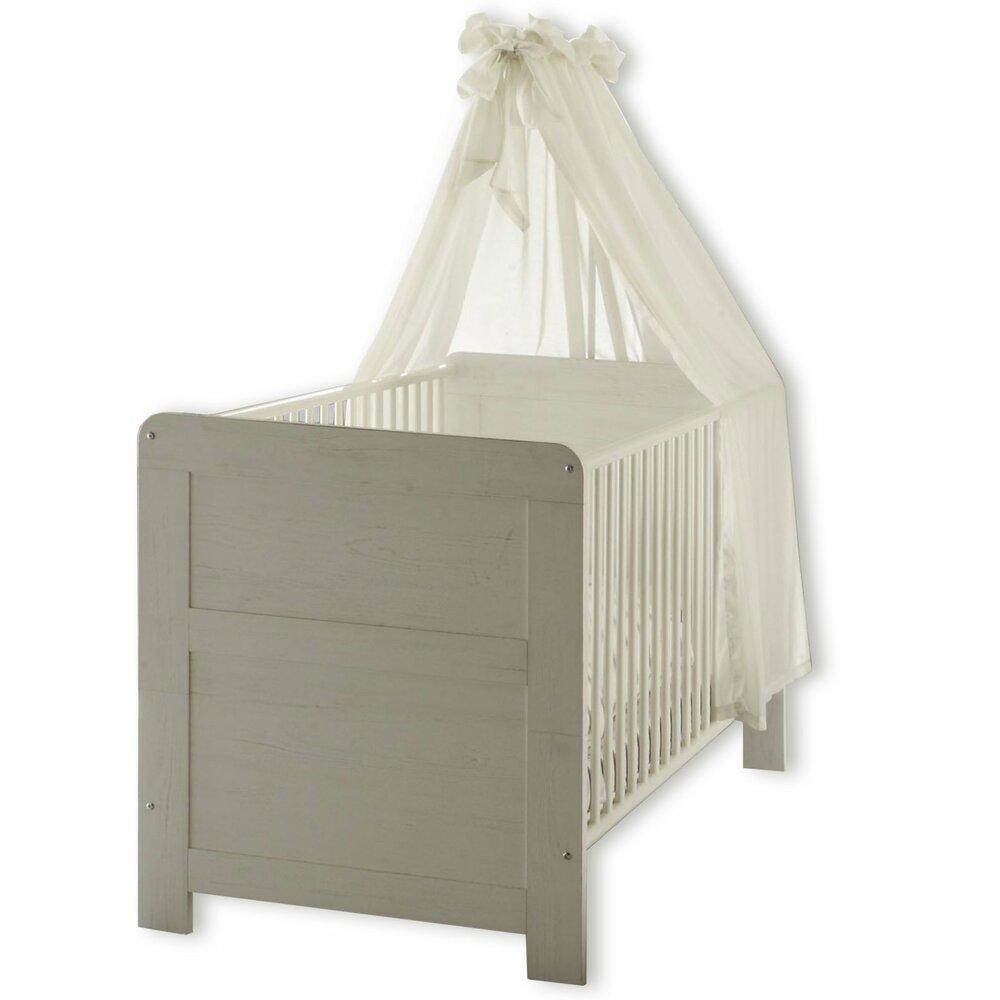 babybett landi pinie wei 70x140 cm babybetten kinderbetten betten m bel m belhaus. Black Bedroom Furniture Sets. Home Design Ideas