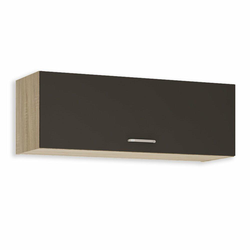 oberschrank fox anthrazit sonoma eiche 100x35 cm h ngeschr nke einzelschr nke. Black Bedroom Furniture Sets. Home Design Ideas