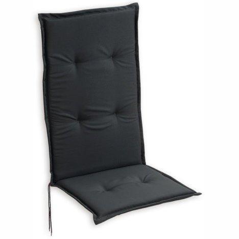 sitzauflage hochlehner woody anthrazit 48x115 cm auflagen auflageboxen gartenm bel. Black Bedroom Furniture Sets. Home Design Ideas