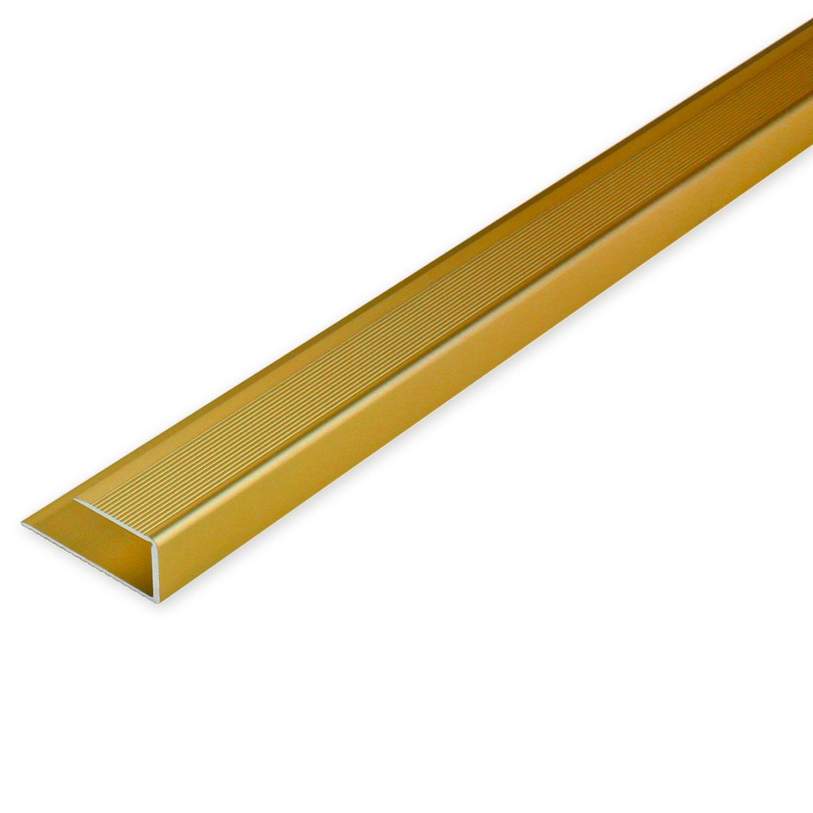 Abschlussschiene - gold - Aluminium - 90 cm