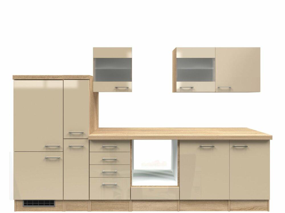 k chenblock nepal kaschmir glanz sonoma eiche 310 cm k chenzeilen ohne e ger te. Black Bedroom Furniture Sets. Home Design Ideas