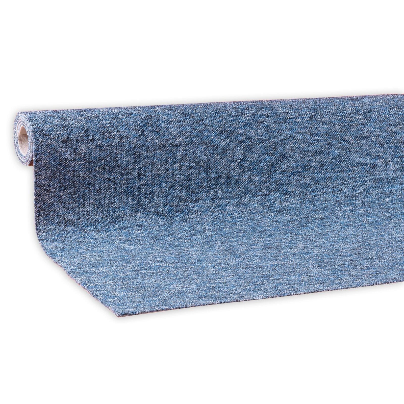 Teppichboden torgau blau 4 meter breit teppichboden for Kuchenzeile 4 meter breit