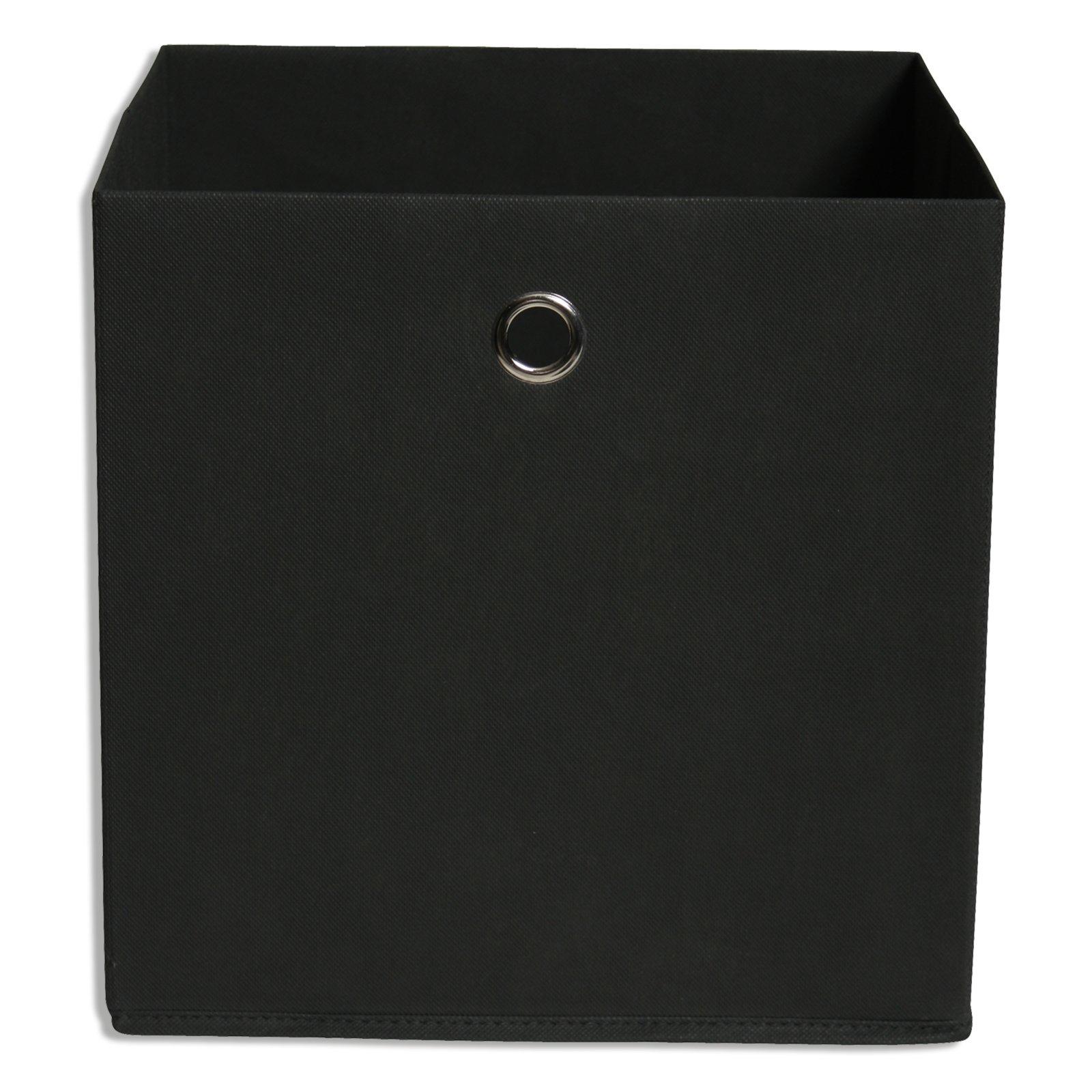 Faltbox - anthrazit - mit Metallöse - 32x32 cm