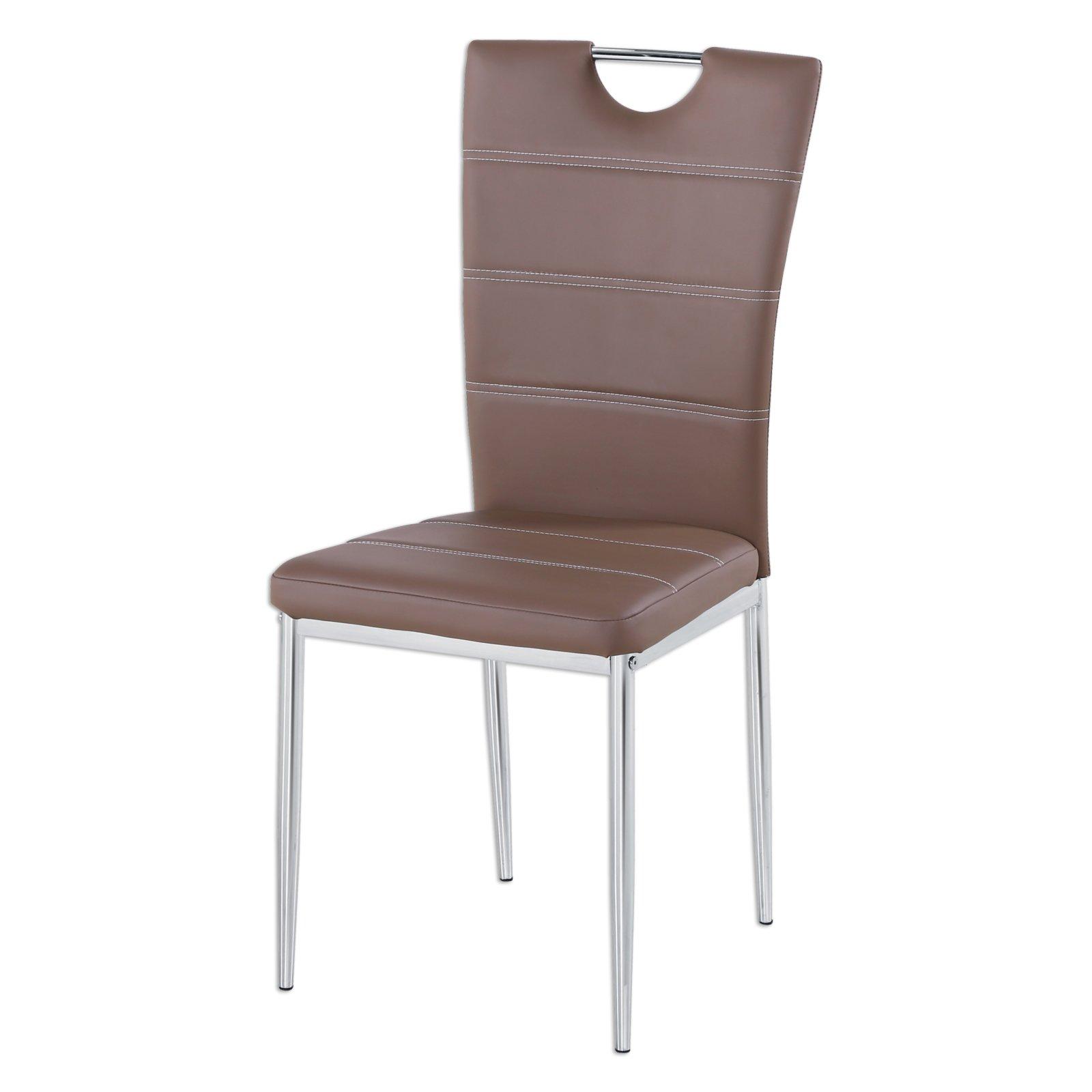 stuhl alex cappuccino kunstleder st hle st hle hocker m bel roller m belhaus. Black Bedroom Furniture Sets. Home Design Ideas