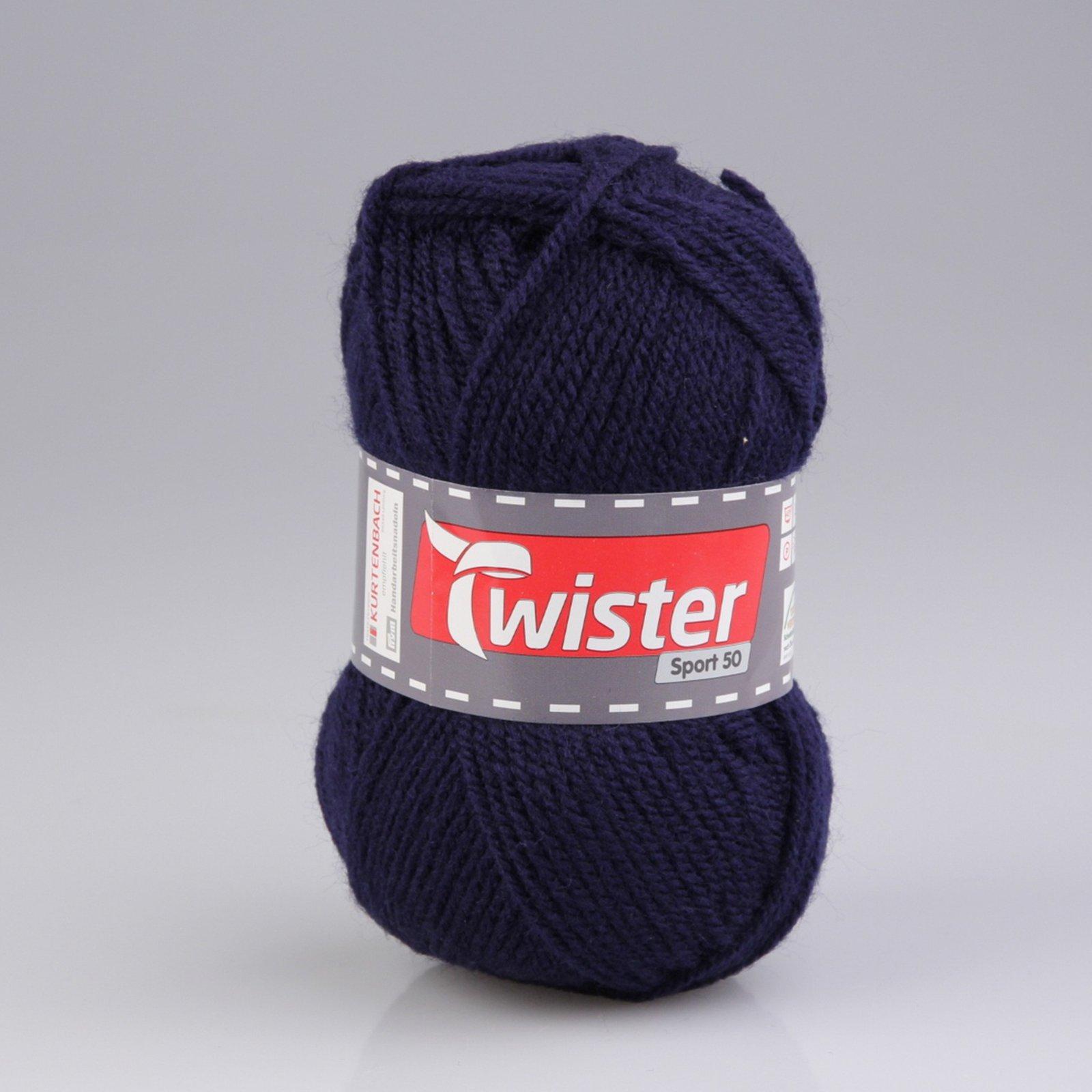 Wolle TWISTER SPORT UNI - marine - 50g