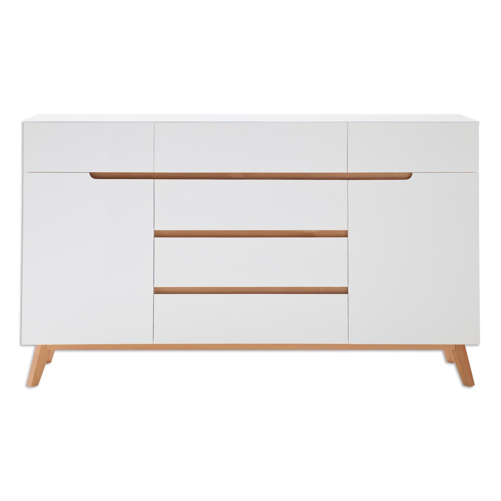 sideboard cervo wei asteiche massiv 169 cm wohnprogramm cervo wohnprogramme. Black Bedroom Furniture Sets. Home Design Ideas