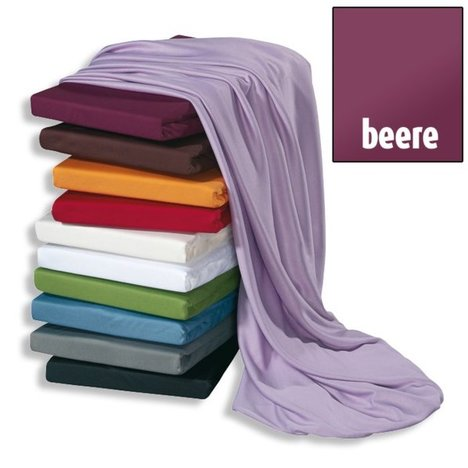 Microfaser-Jersey-Bettlaken HIGH CLASS - beere - 90x200 cm