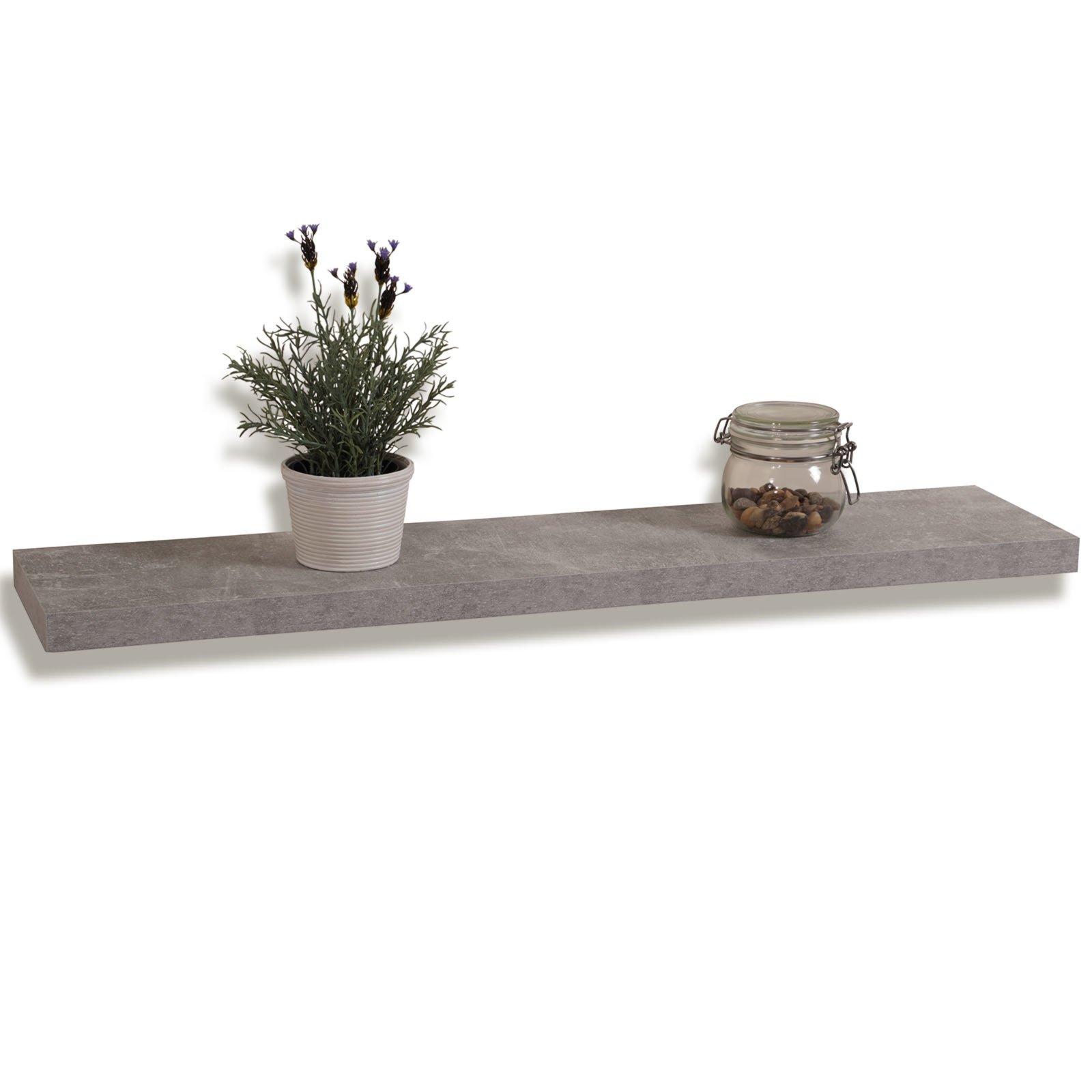 wandregal board i betonoptik 90 cm wandregale boards regale m bel roller m belhaus. Black Bedroom Furniture Sets. Home Design Ideas