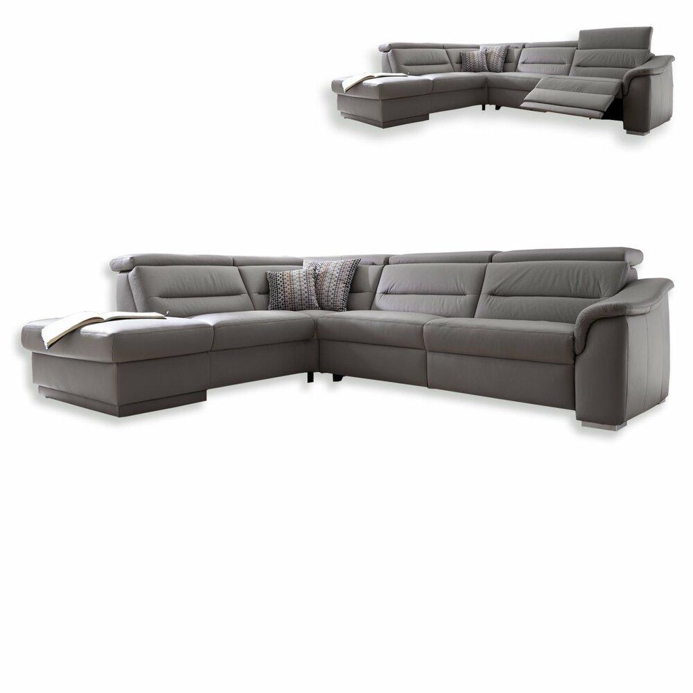 ledersofa granit mit wallaway funktion ledersofas. Black Bedroom Furniture Sets. Home Design Ideas