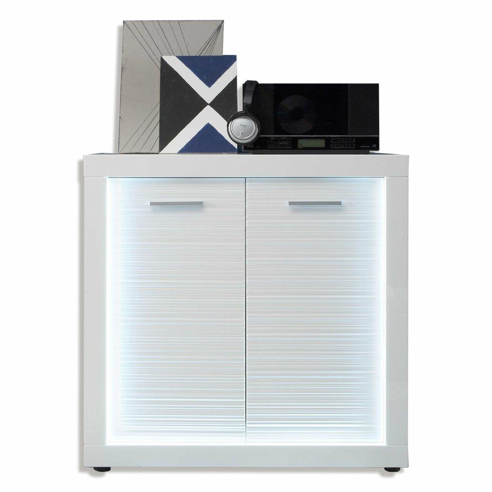 kommode starlight wei hochglanz 2 t rigangebot. Black Bedroom Furniture Sets. Home Design Ideas
