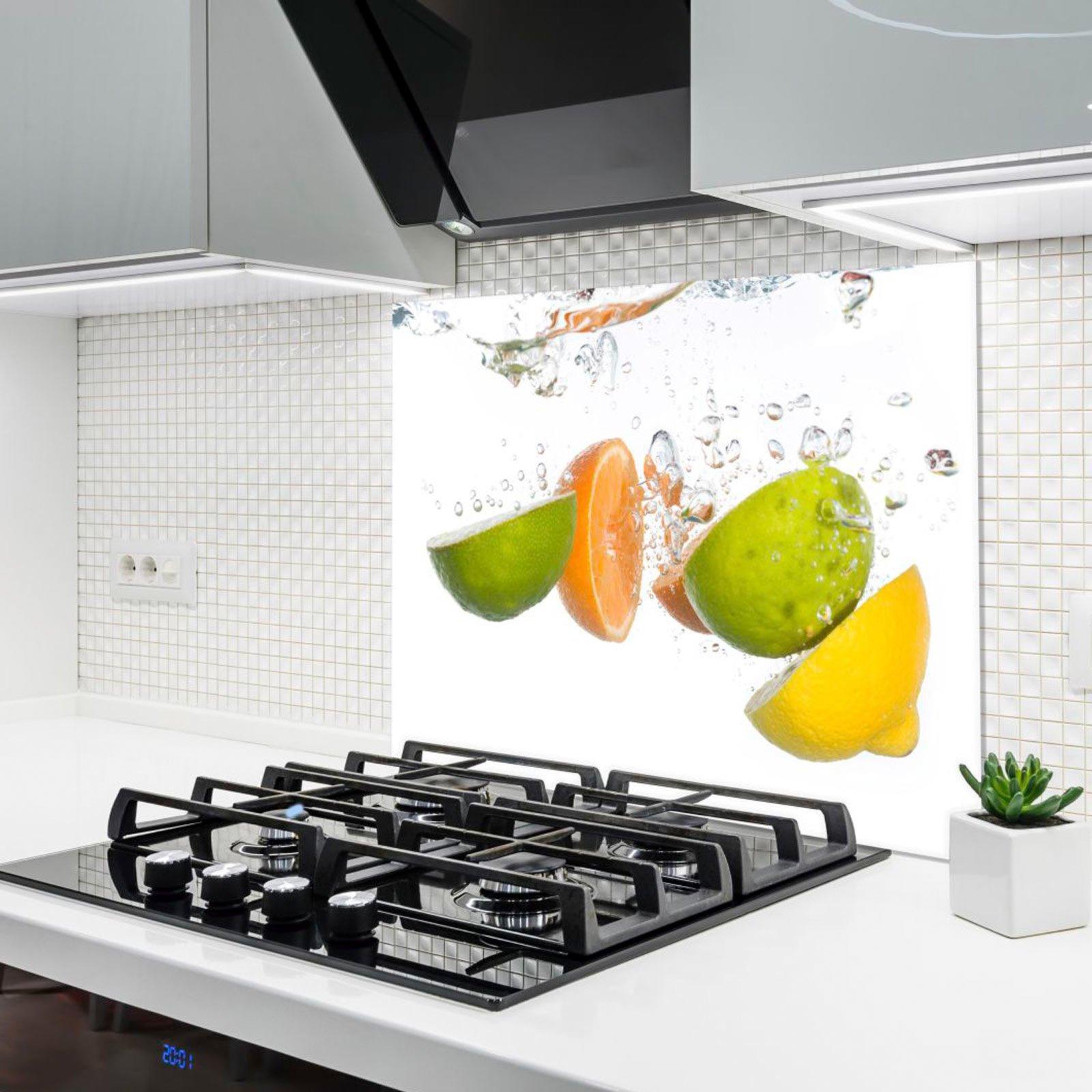 Küchenrückwand Aus Glas Zitrusfrüchte 90x65 Cm Online Bei