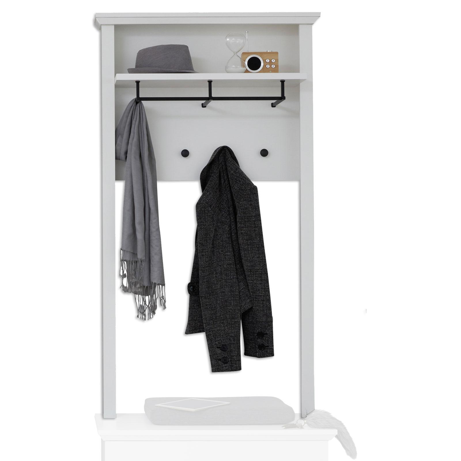 Garderobenpaneel Weiß 81 Cm Zur Sitzbank
