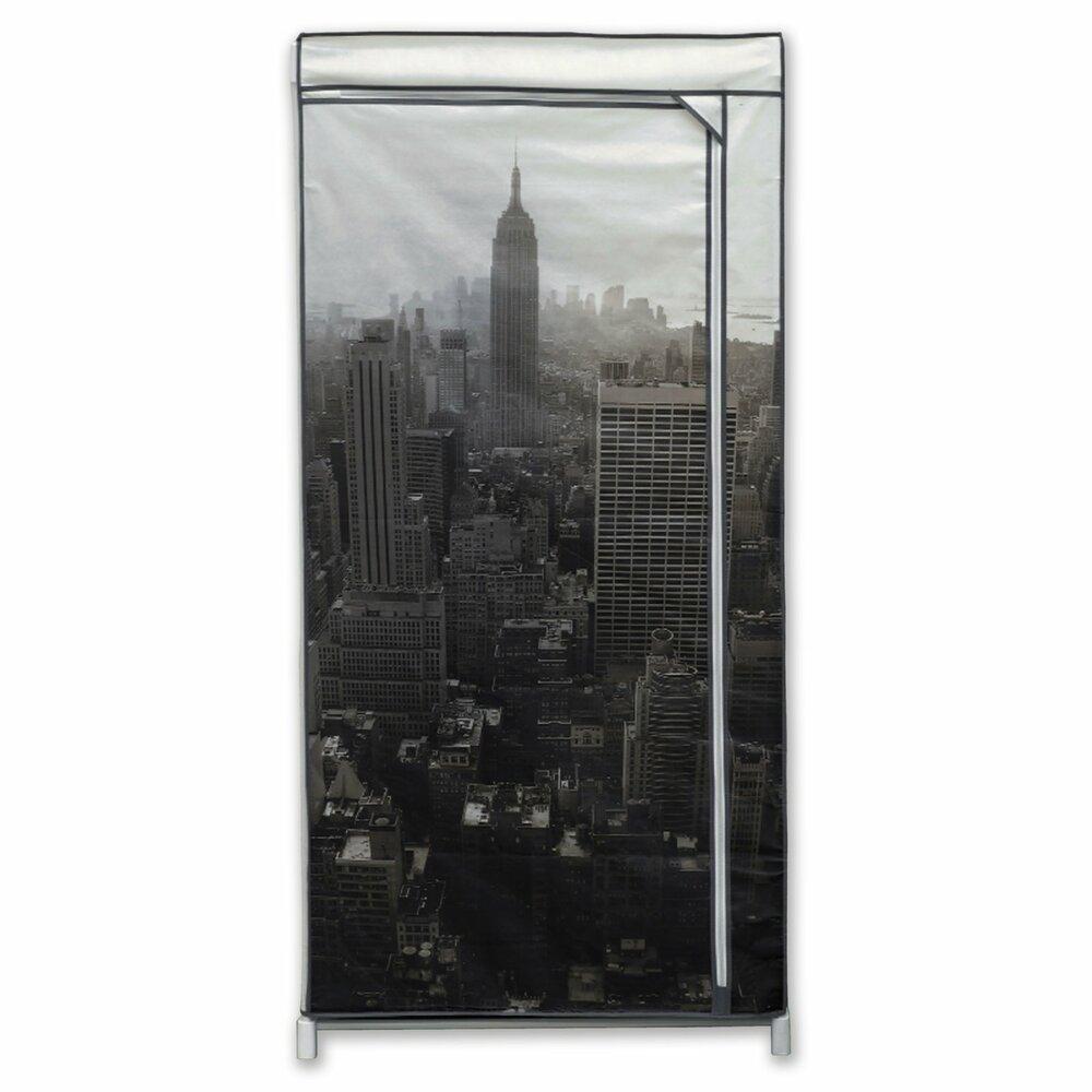stoffschrank new york mit kleiderstange faltt renschr nke kleiderschr nke schr nke. Black Bedroom Furniture Sets. Home Design Ideas