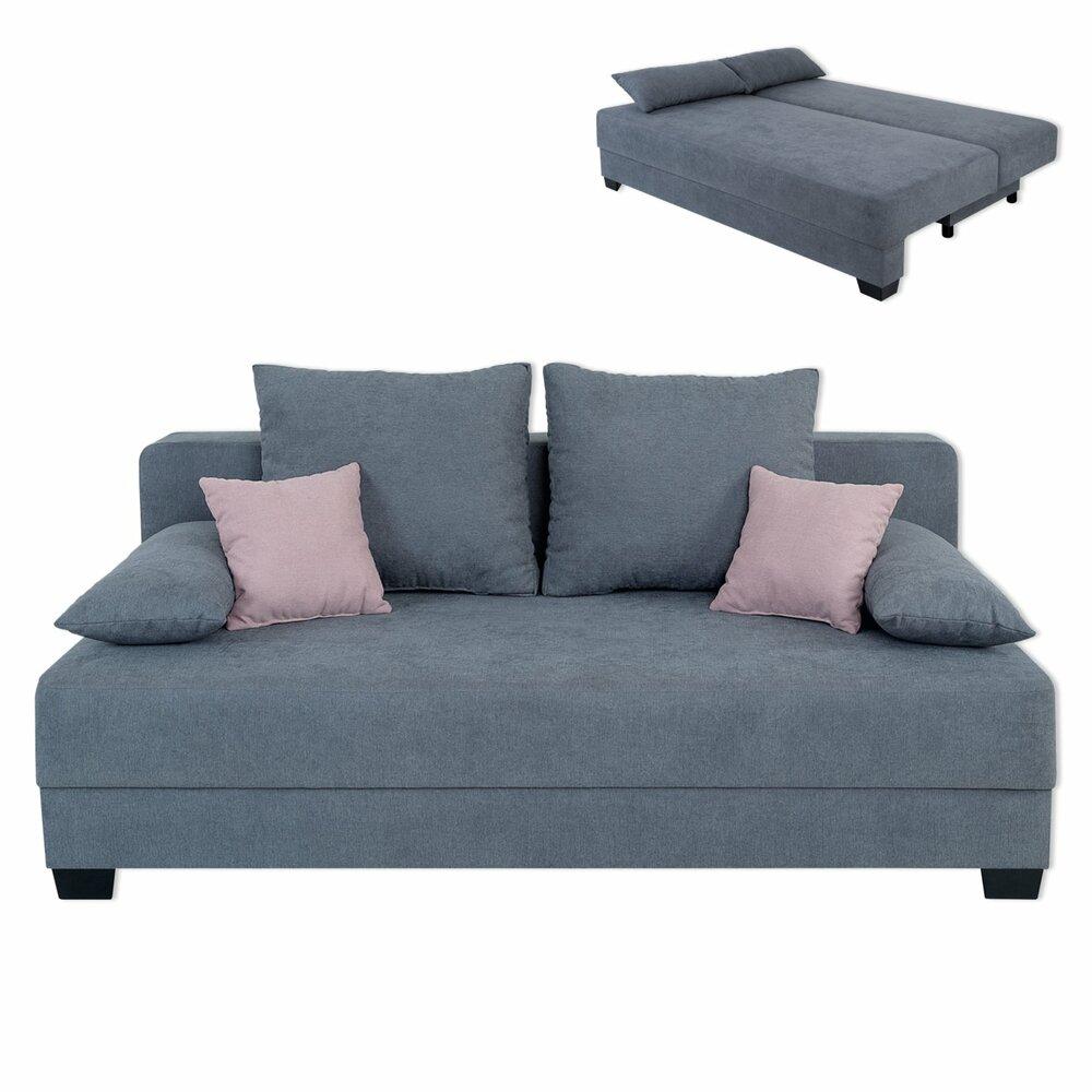 schlafsofa grau mit staukasten dauerschl fer. Black Bedroom Furniture Sets. Home Design Ideas