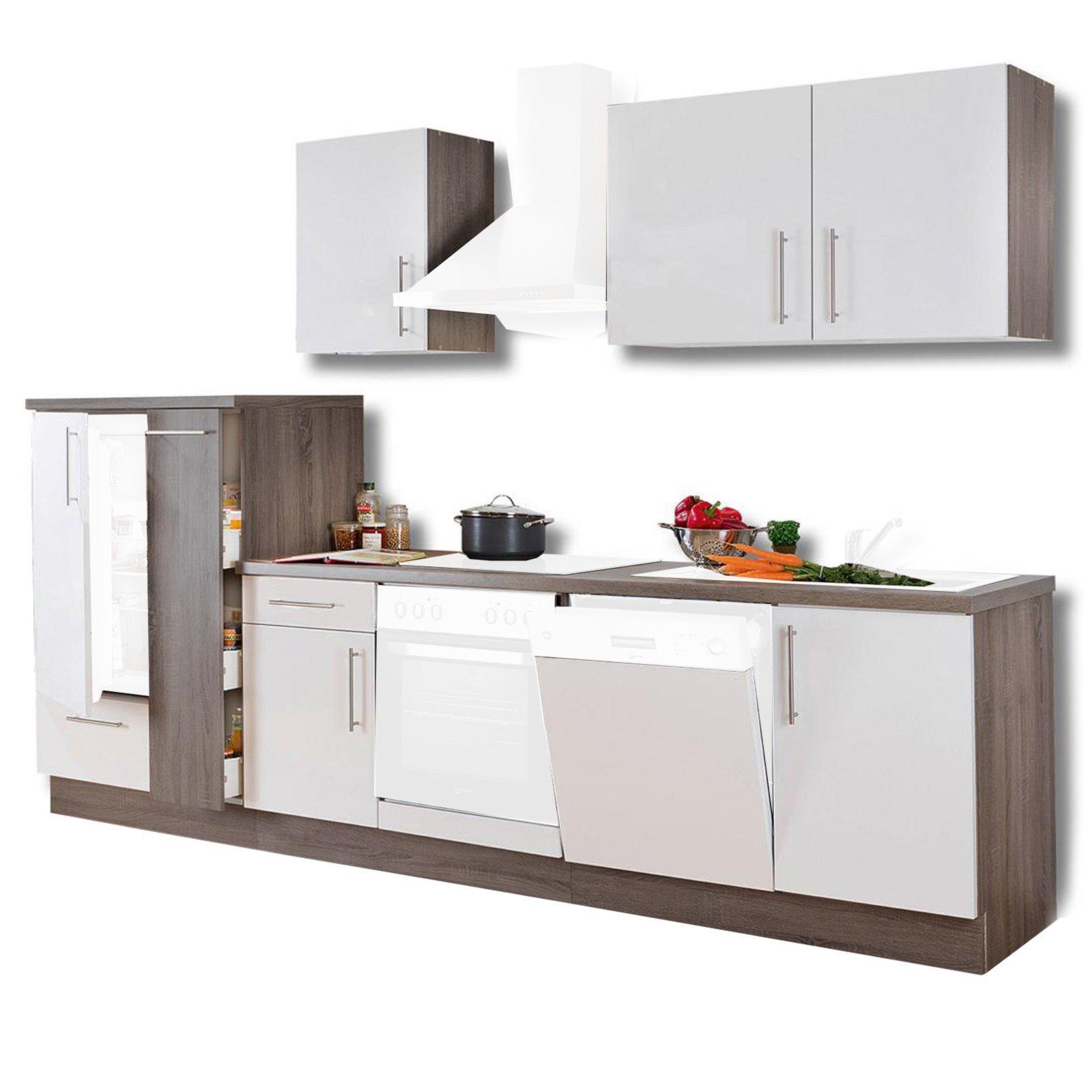 k chenblock julia wei hochglanz tr ffel 310 cm ebay. Black Bedroom Furniture Sets. Home Design Ideas