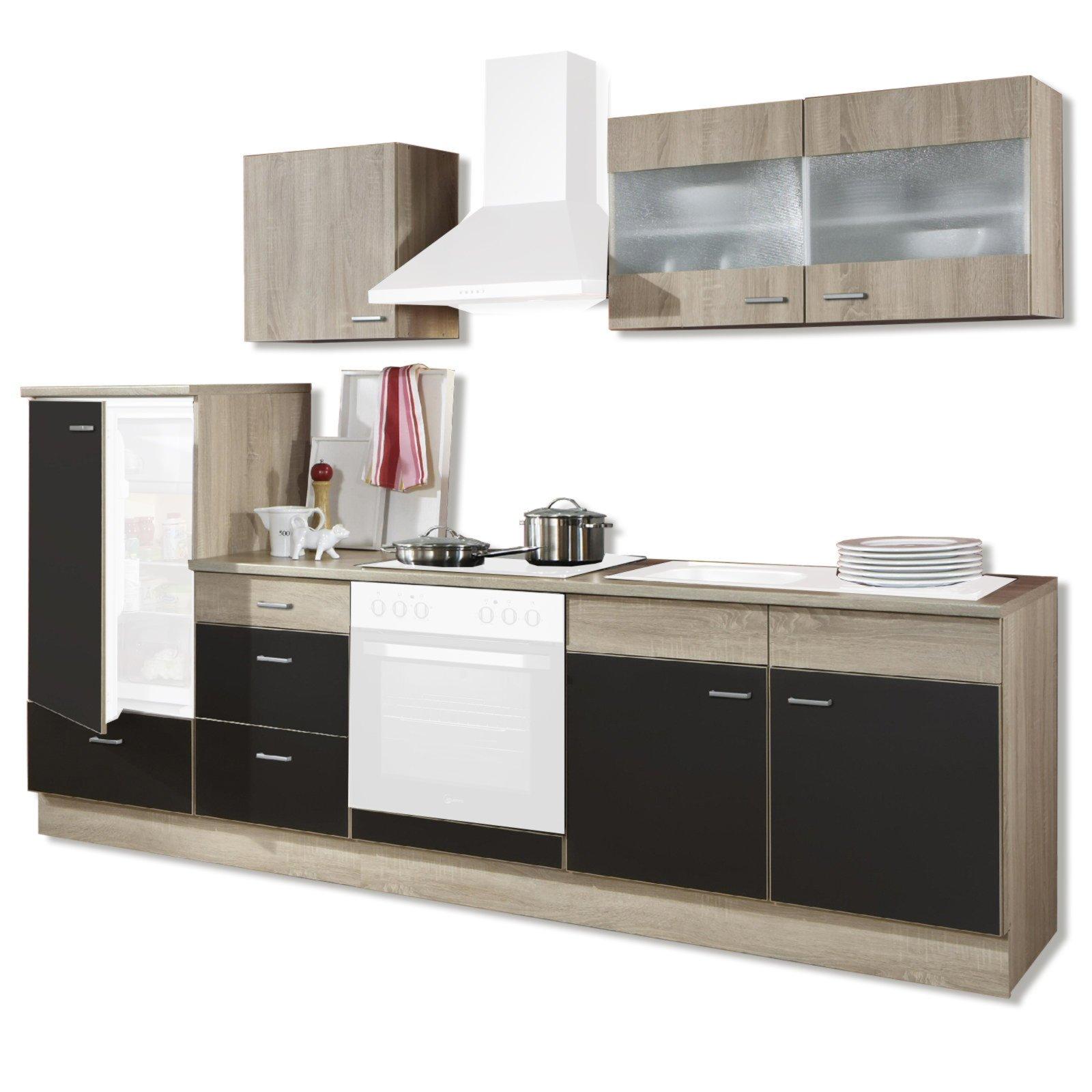 k chenblock jolina lava matt sonoma eiche 270 cm ebay. Black Bedroom Furniture Sets. Home Design Ideas