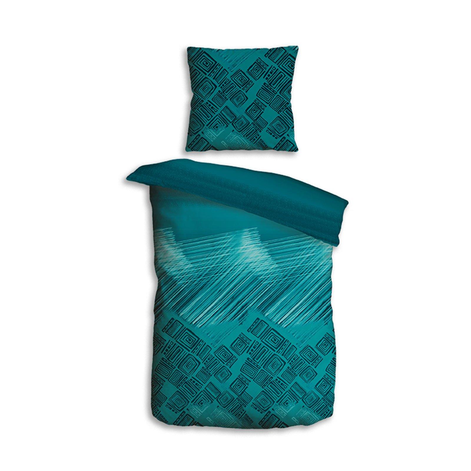 homara microfaser bettw sche urban spirit petrol. Black Bedroom Furniture Sets. Home Design Ideas