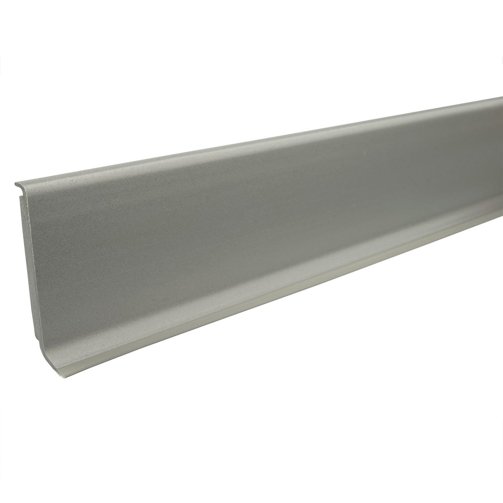 hartschaum sockelleiste grau 60 mm 255 cm fu leisten bodenbel ge renovieren roller. Black Bedroom Furniture Sets. Home Design Ideas