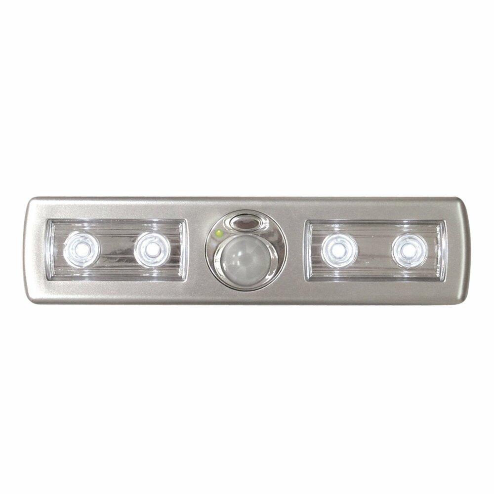 led lichtleiste mit sensor silber batteriebetrieben unterbauleuchten lampen roller. Black Bedroom Furniture Sets. Home Design Ideas