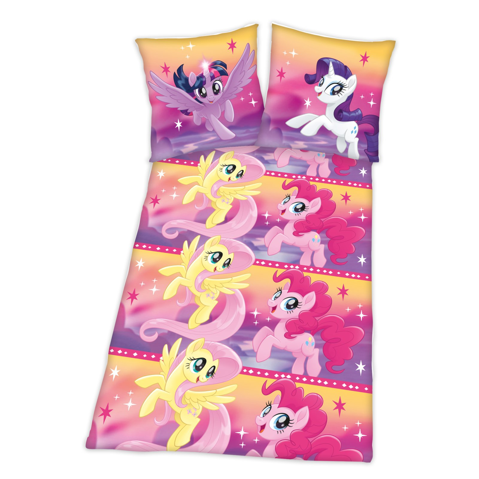 Renforcé Bettwäsche My Little Pony Mit Knopfleiste 135x200 Cm