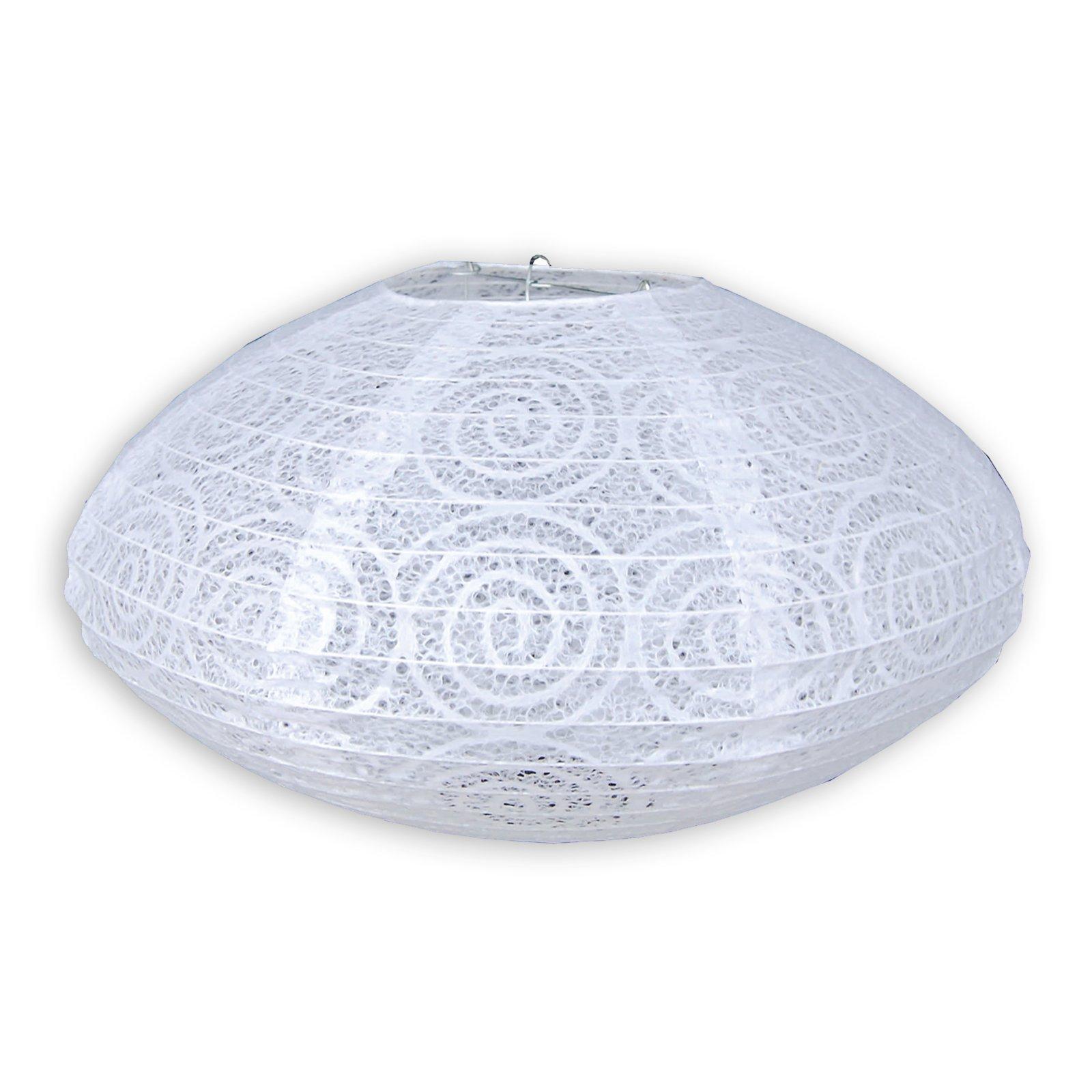 Lampenschirm - Reispapier - weiß - oval