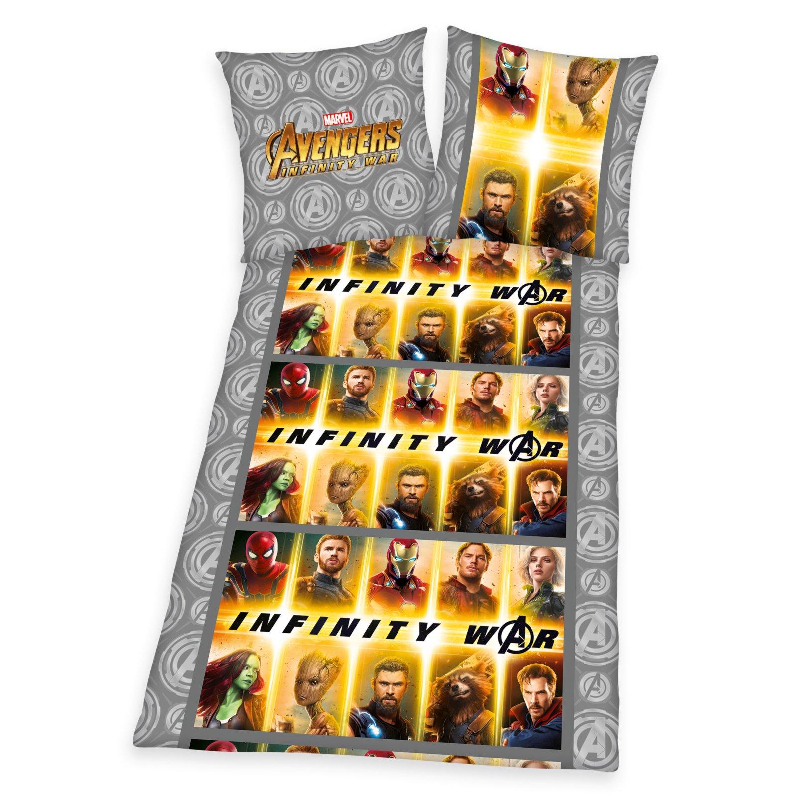 Microfaser Bettwäsche Avengers Infinty War 135x200 Cm Online