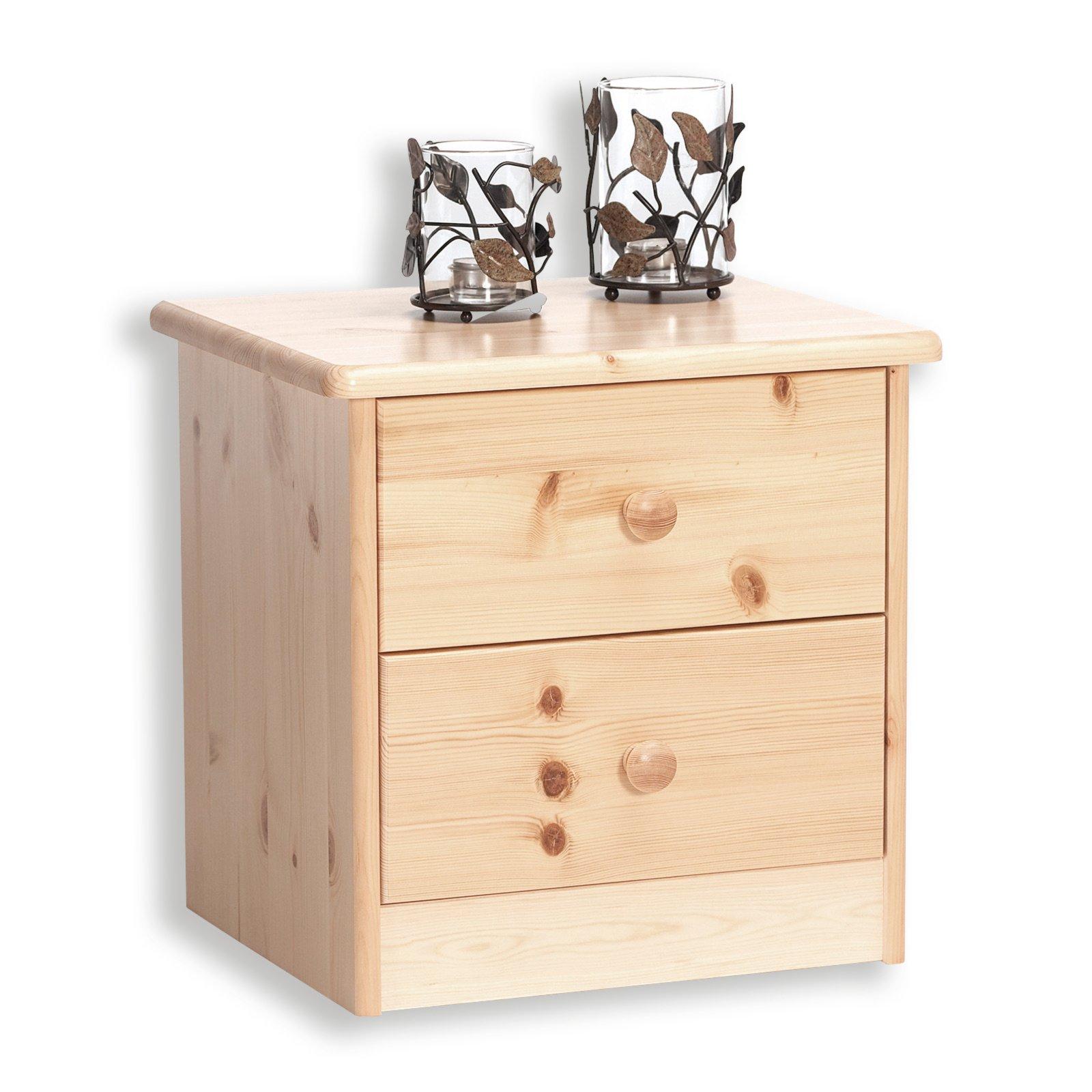 nachttisch mario kiefer massiv natur 41 cm nachttische m bel m belhaus roller. Black Bedroom Furniture Sets. Home Design Ideas